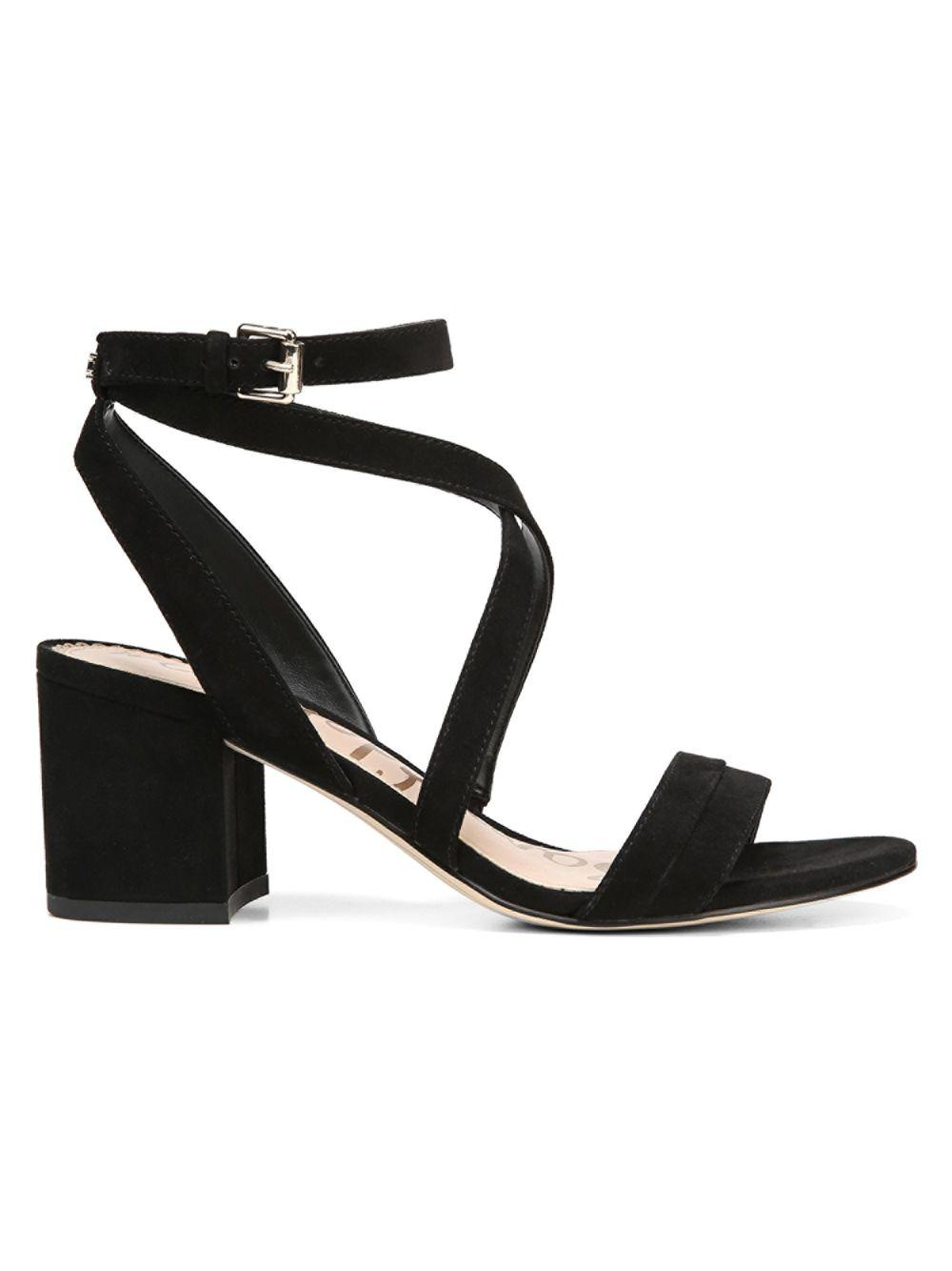f3535b0b547 Sam Edelman Sammy Strappy Suede Sandals in Black - Save 60% - Lyst