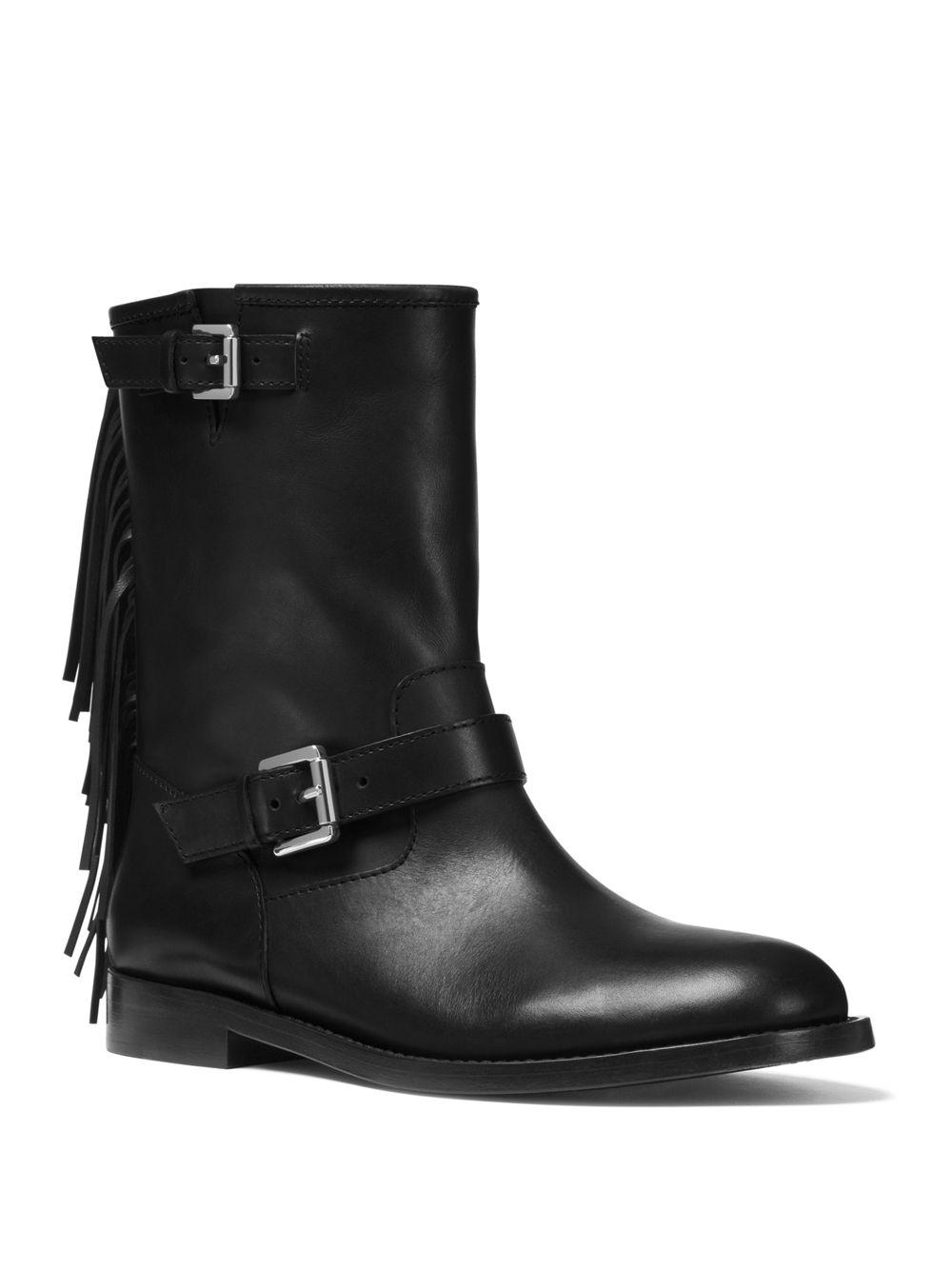 b062fa4c4f7c Lyst - Michael Kors Ingrid Leather Boots in Black - Save 50%