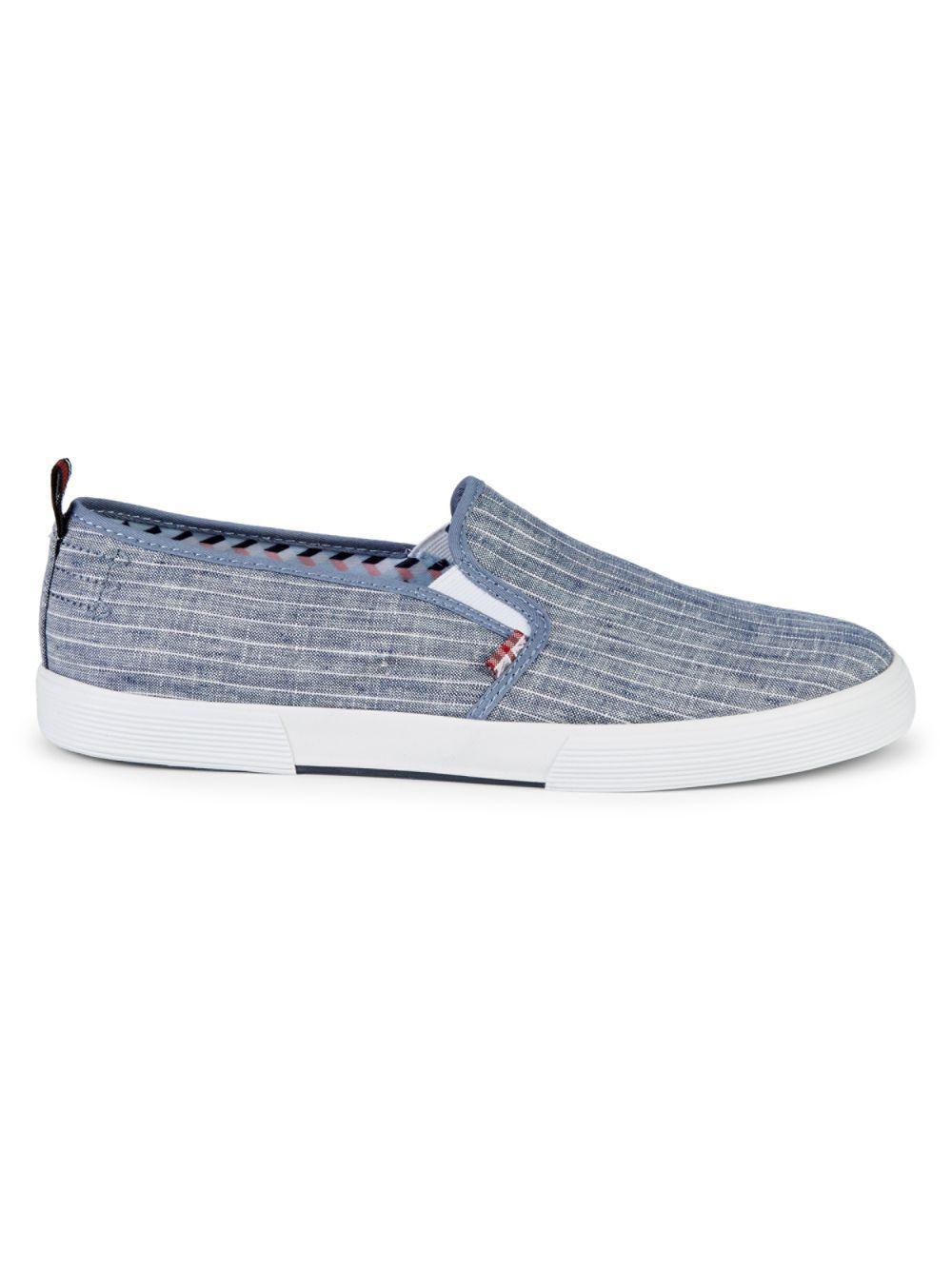 45386b1fa4741 Lyst - Ben Sherman Bristol Striped Slip-on Sneakers in Blue