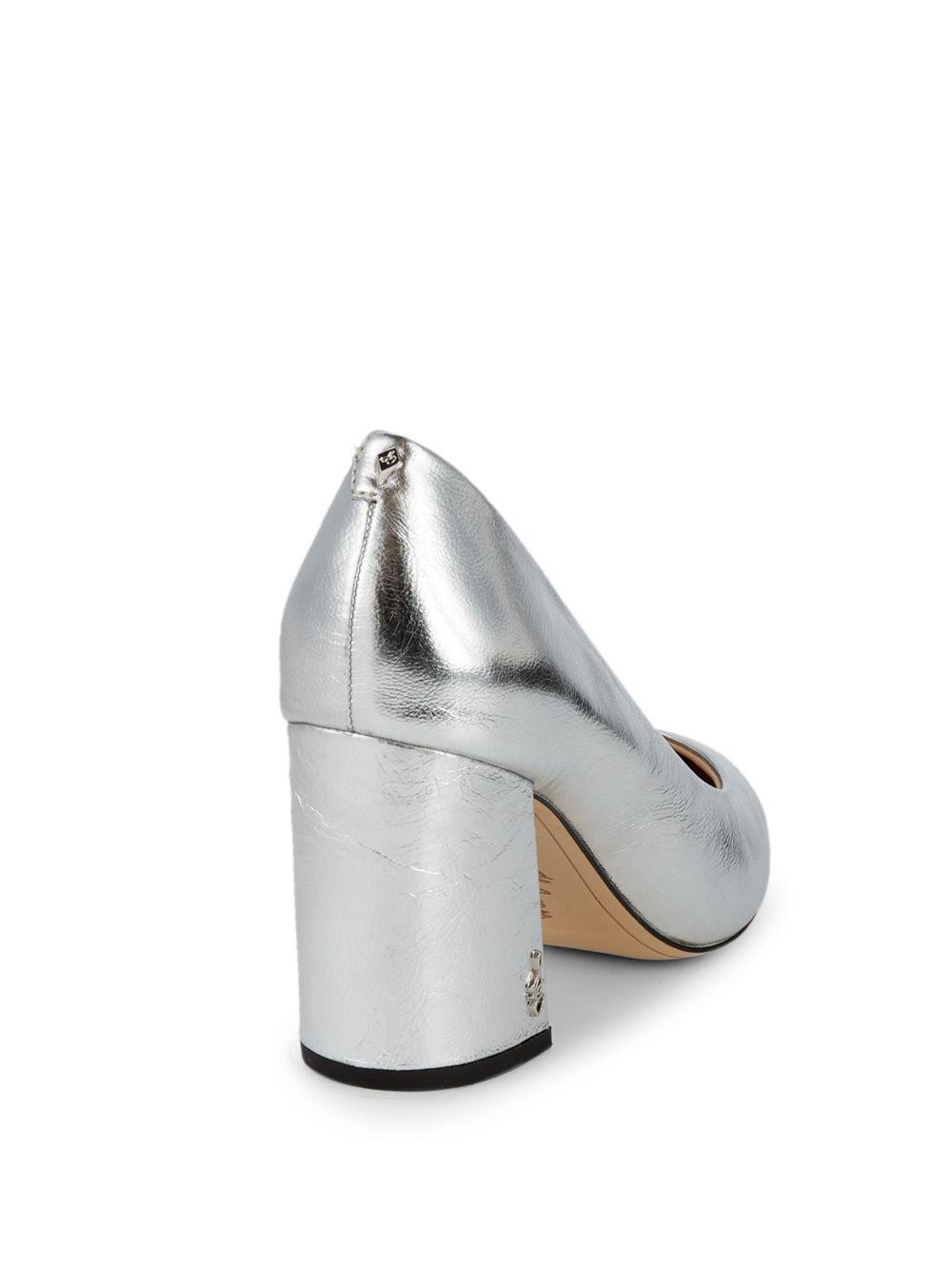 1043b670cfec1f Lyst - Sam Edelman Tatiana Metallic Leather Pointy Pumps in Metallic - Save  62%