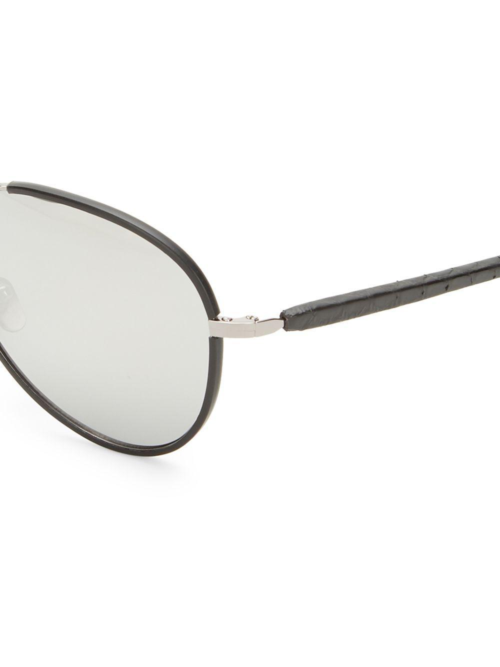 d4ff2b987e0 Linda Farrow - Metallic 60mm Snakeskin Arm Aviator Sunglasses - Lyst. View  fullscreen