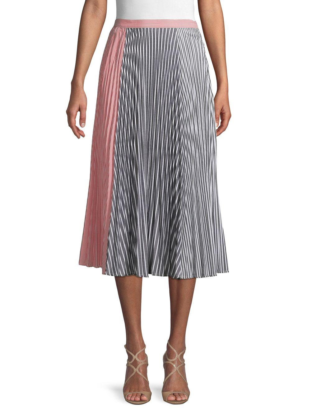 37bbd0c04e French Connection Accordion Pleat A-line Skirt in Gray - Lyst