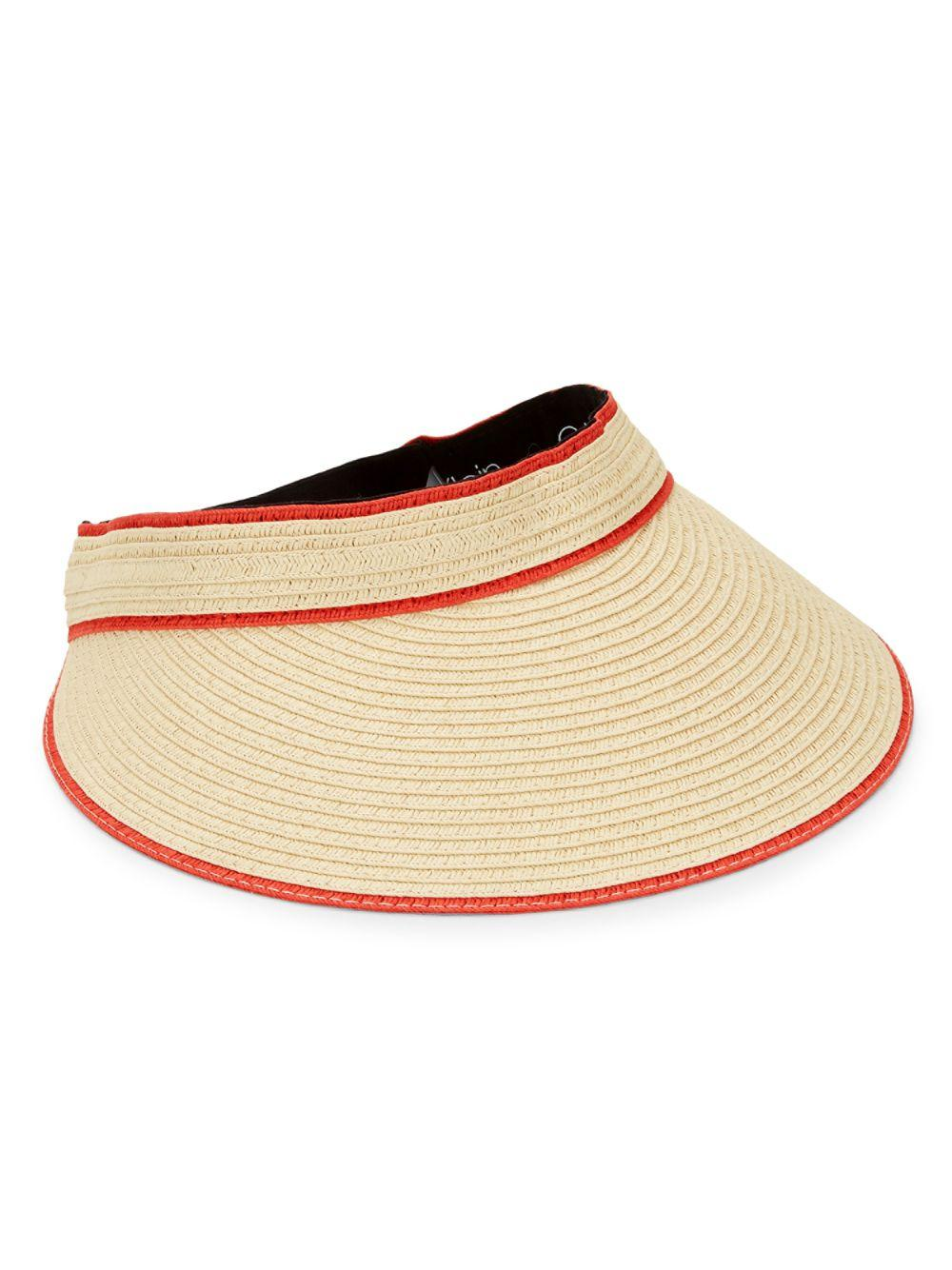 7a2a89acdfe Lyst - Calvin Klein Straw Visor in Natural for Men