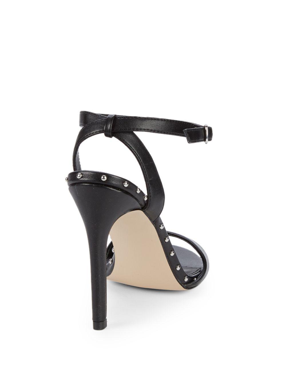 e44fe5b1e8 Steve Madden Raea Studded Stiletto Sandals in Black - Lyst