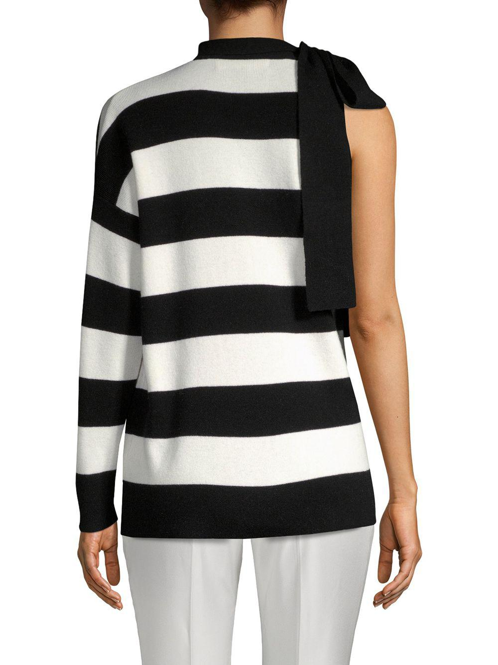 4ef4bd2f8a Robert Rodriguez Striped Wool   Cashmere Sweater in Black - Lyst