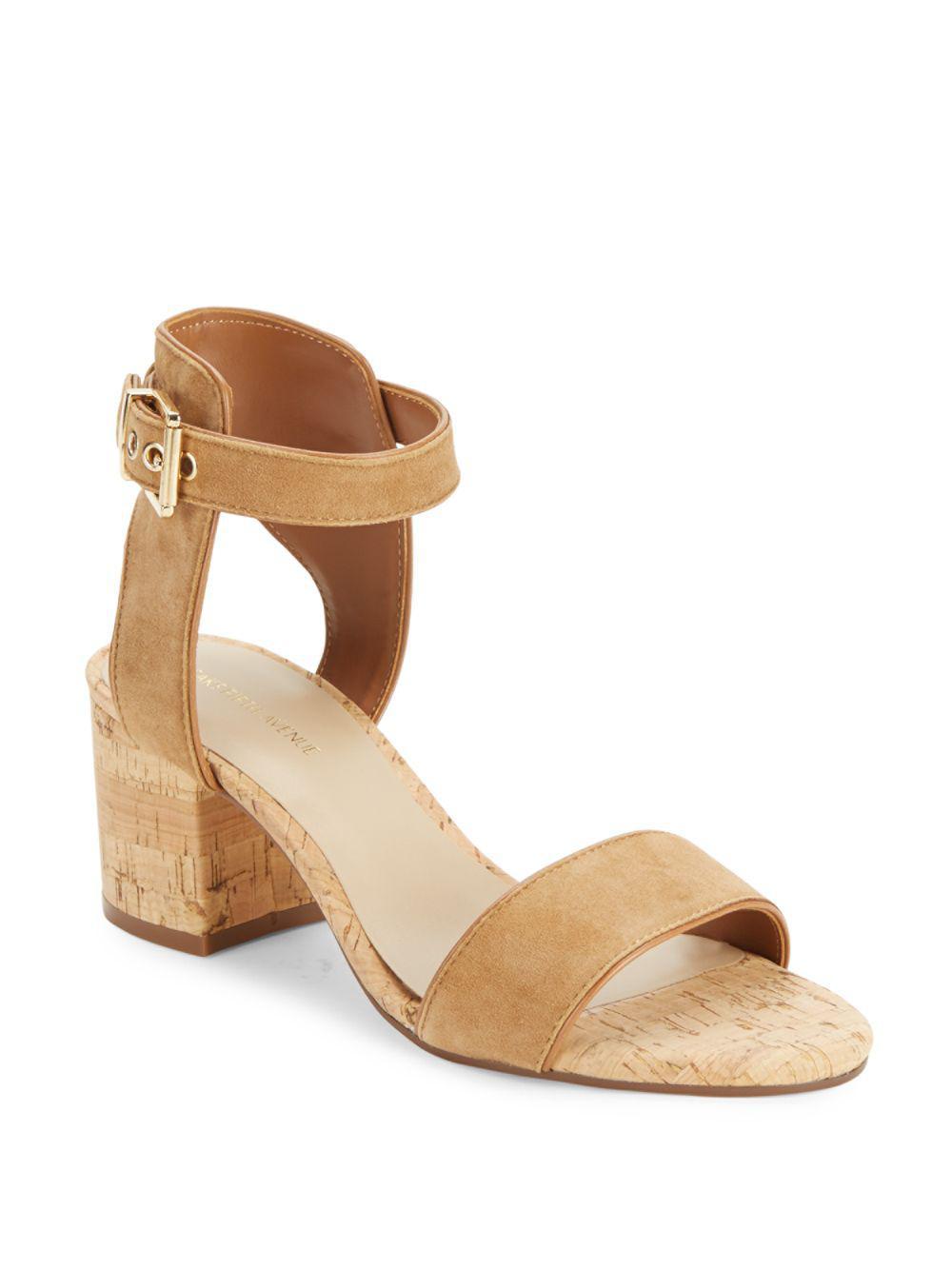66288bd0a7e5 Lyst - Saks Fifth Avenue Helaine Cork Sandals