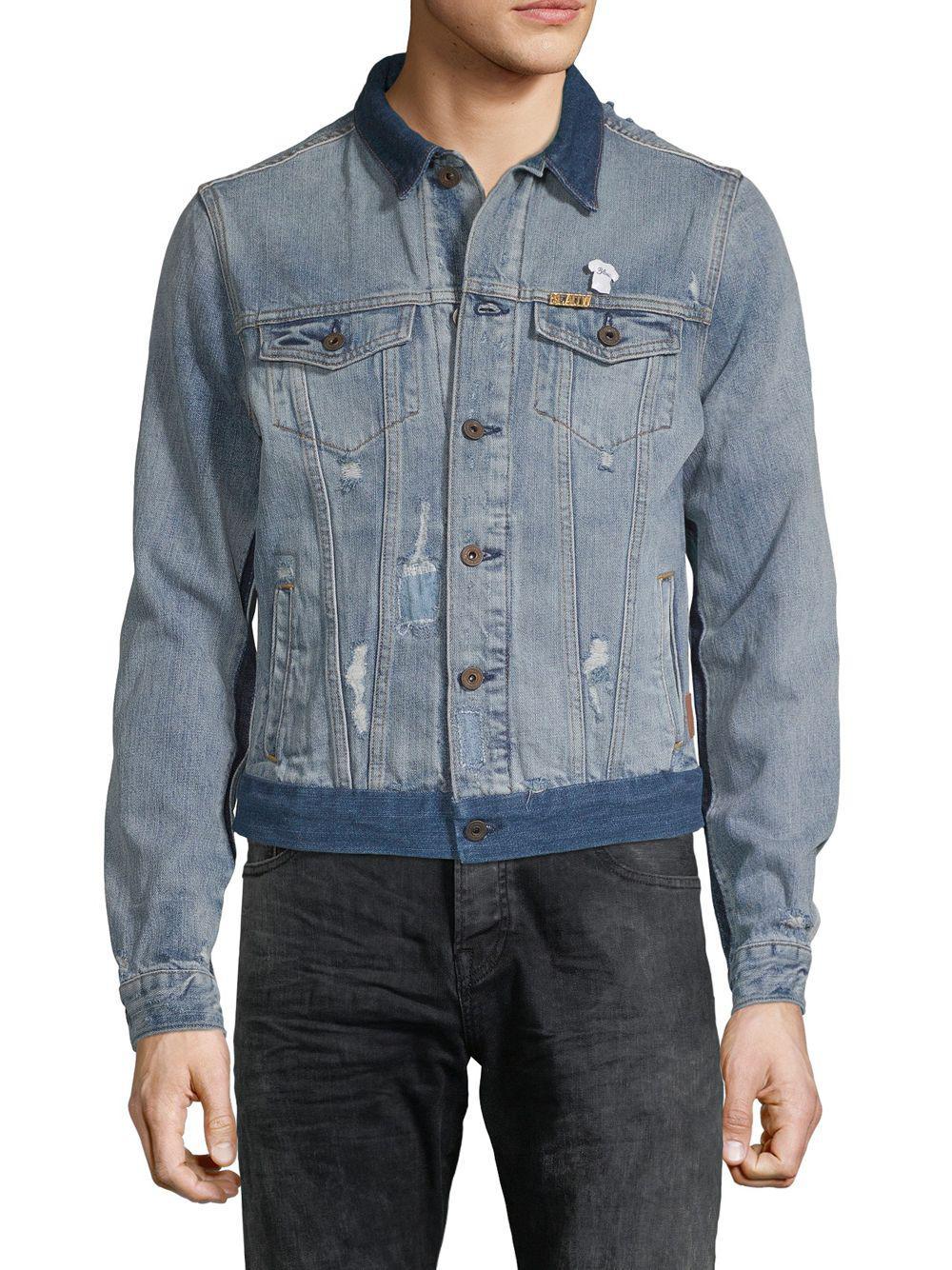 343440003e0 Lyst - Scotch   Soda Heroes Customized Denim Jacket in Blue for Men