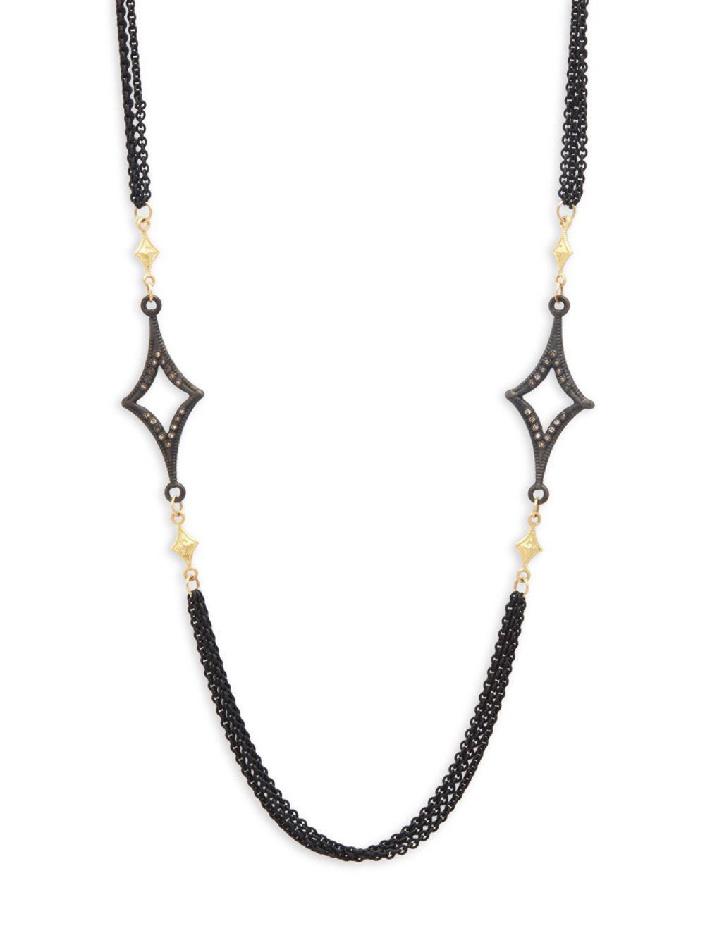 Armenta Long Open Cravelli Station Necklace, 36