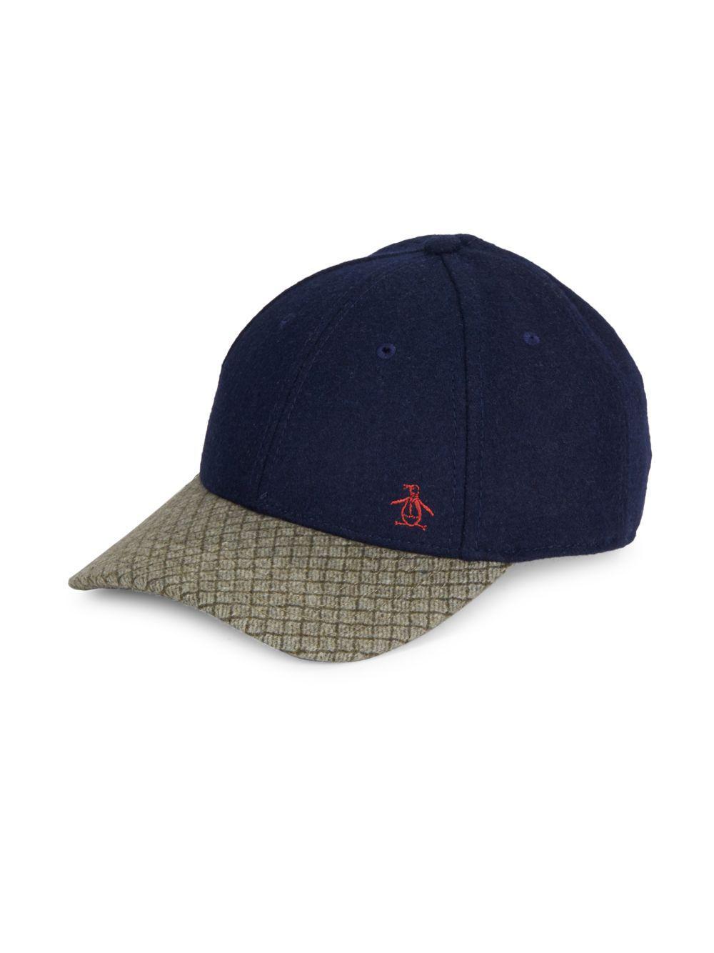 2514626f9334d Lyst - Original Penguin Shane Wool-blend Baseball Cap in Blue for Men