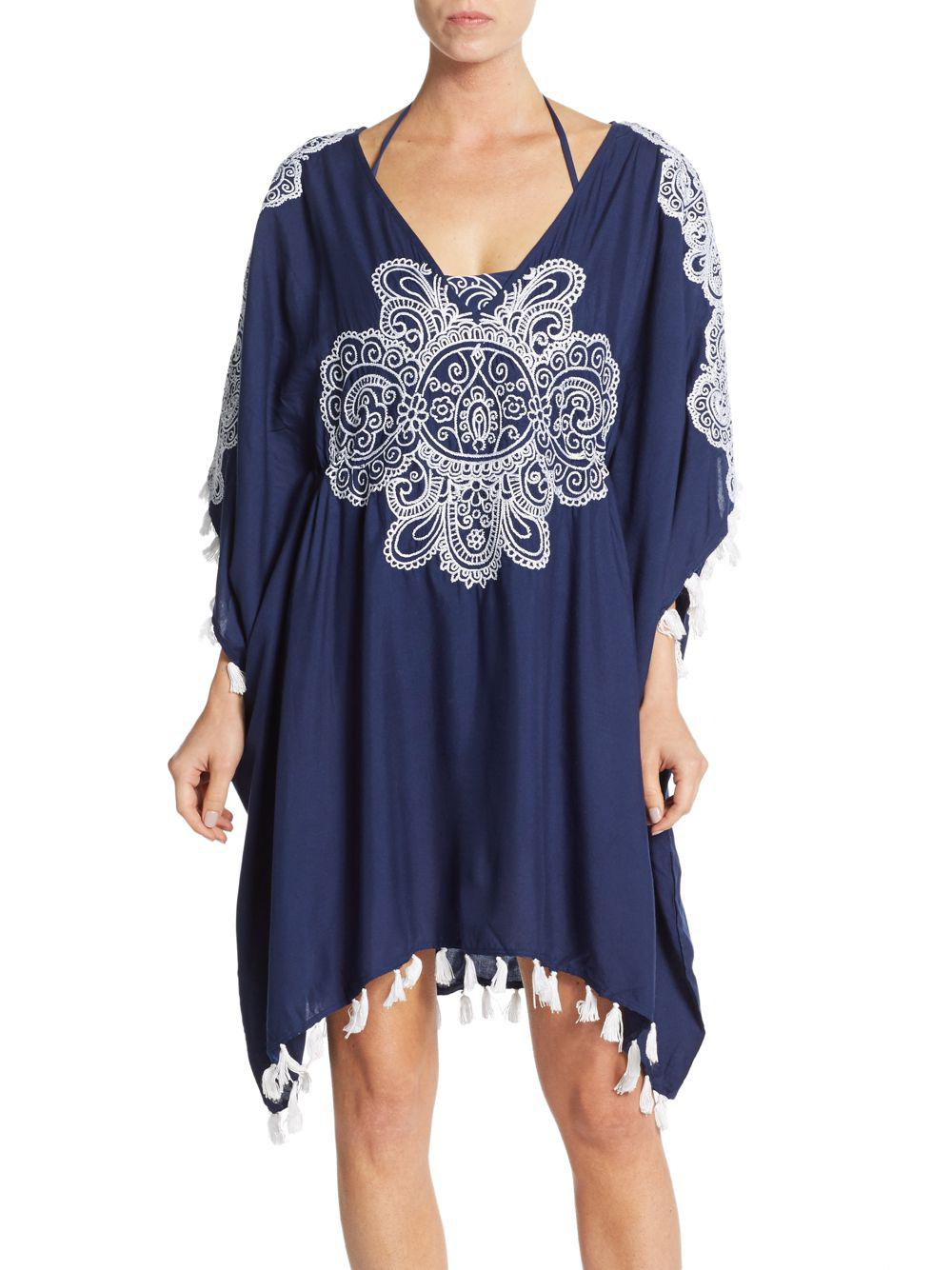 4795d8811d Lyst - Nanette Lepore Henna Caftan Swim Coverup in Blue