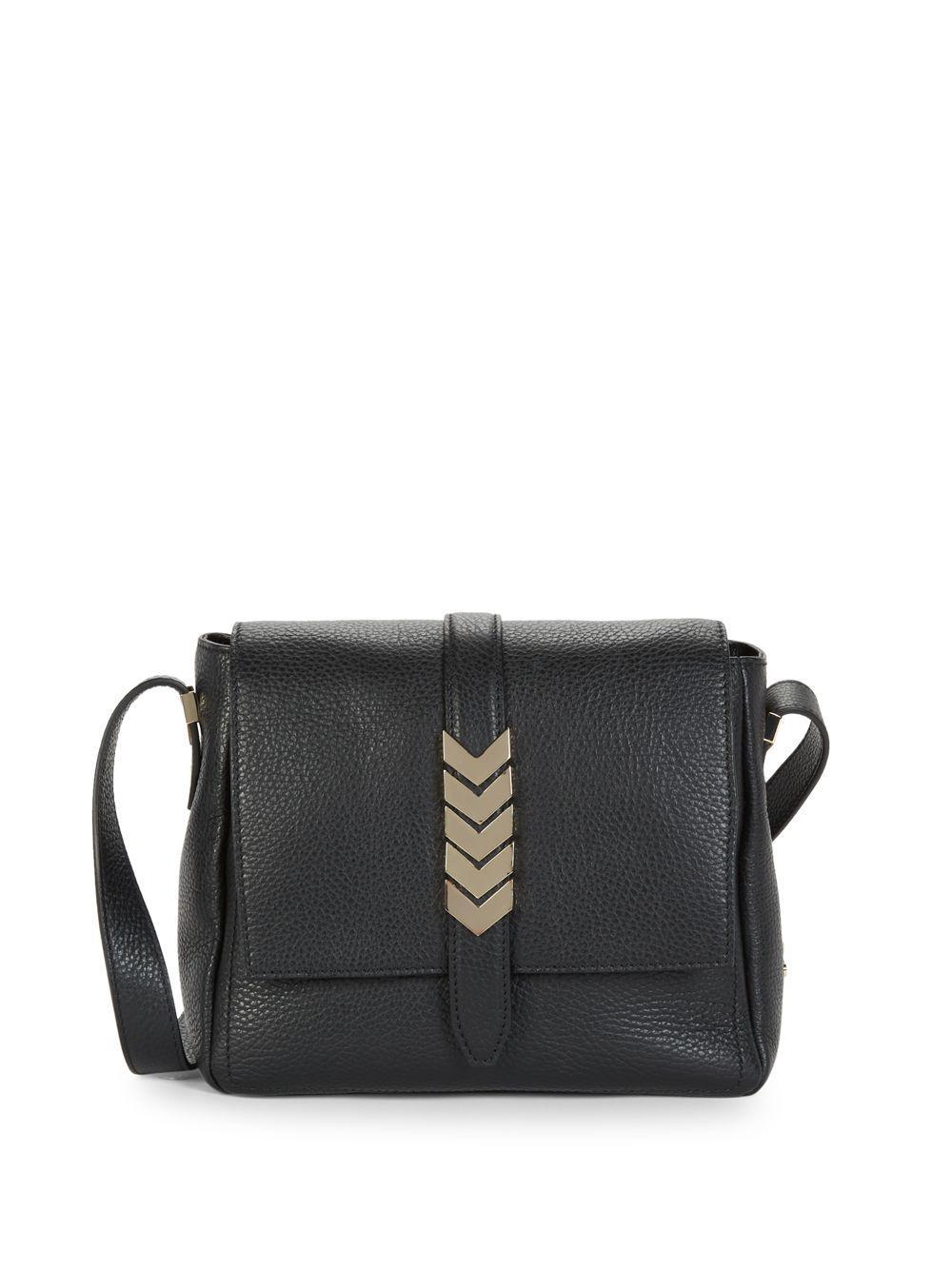 Versace Leather Shoulder Bag in Black - Lyst 2c9b61f21f145