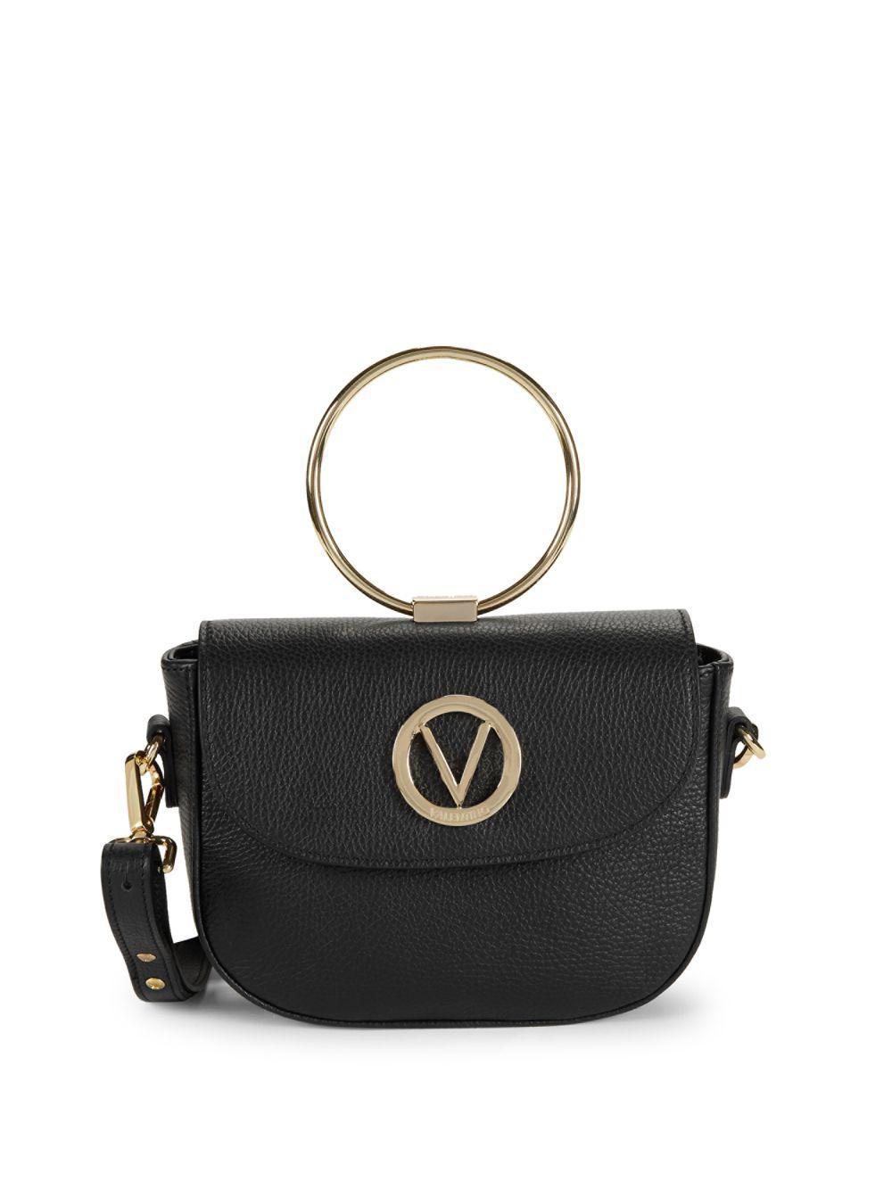 14e69f64ca Valentino By Mario Valentino. Women s Black Lunette Leather Crossbody Bag