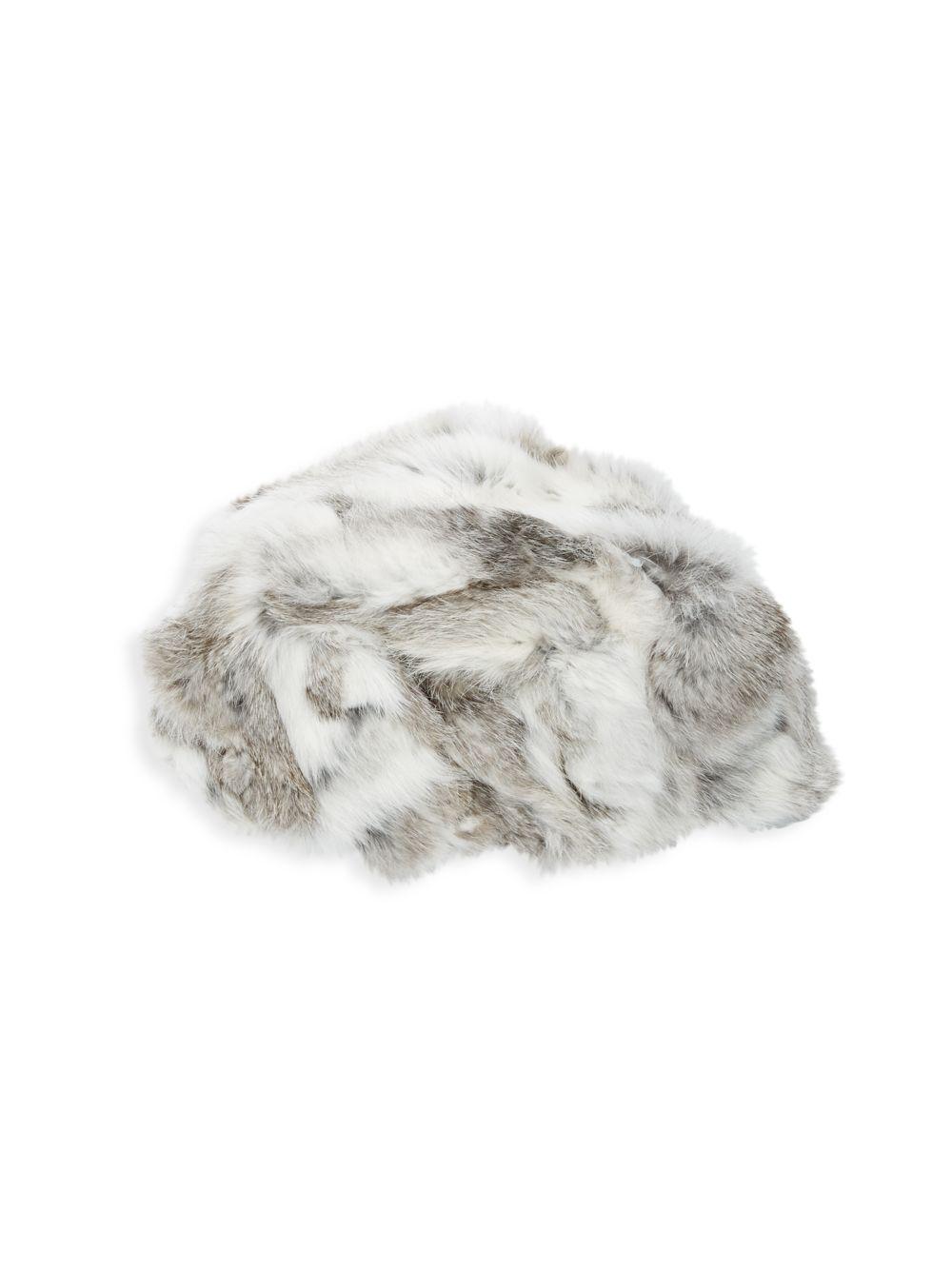 Lyst - Adrienne Landau Rabbit Fur Hat in Natural cf0b1b35ee90