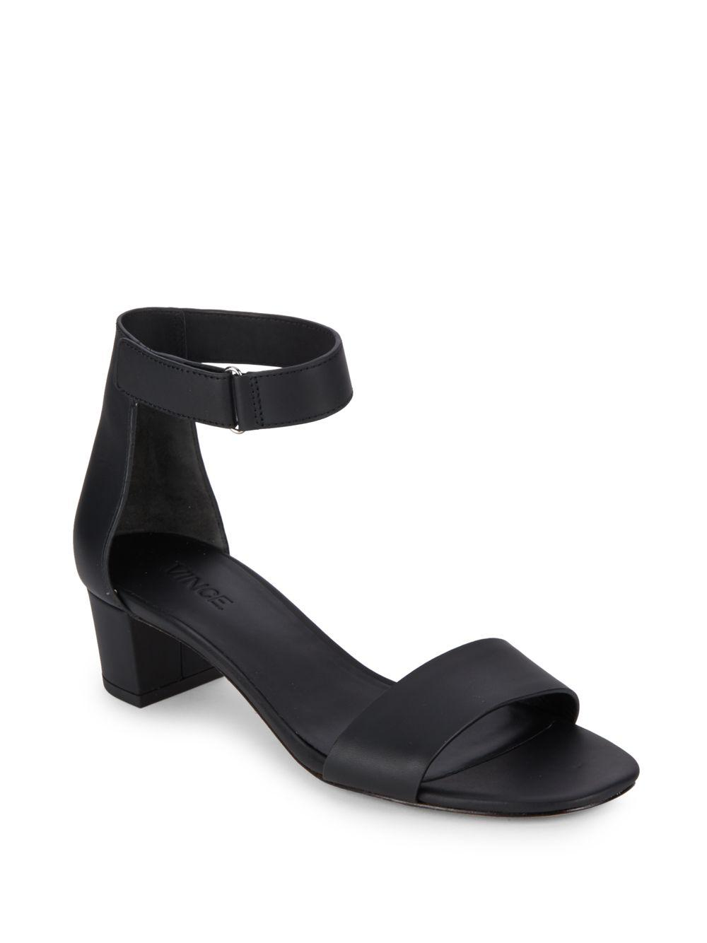 65185acdd5d Lyst - Vince Rita Leather Ankle Strap Sandals in Black - Save 51%