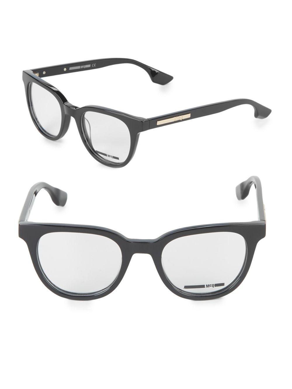 Lyst - Mcq Alexander Mcqueen 21mm Logo Optical Frames in Black