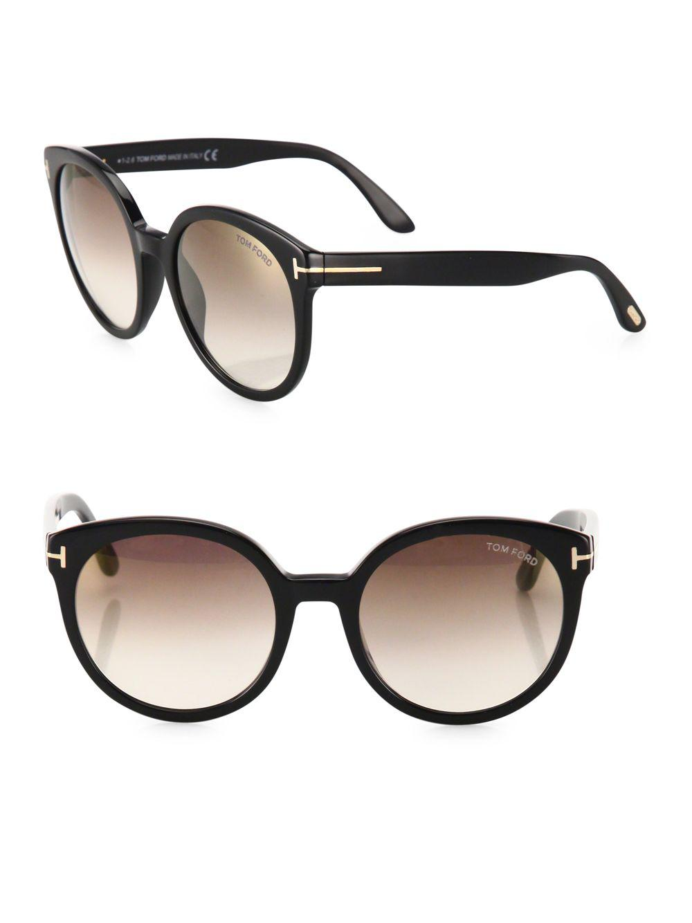 2988600ea6b Lyst - Tom Ford Philippa 55mm Mirrored Oversized Round Sunglasses in ...