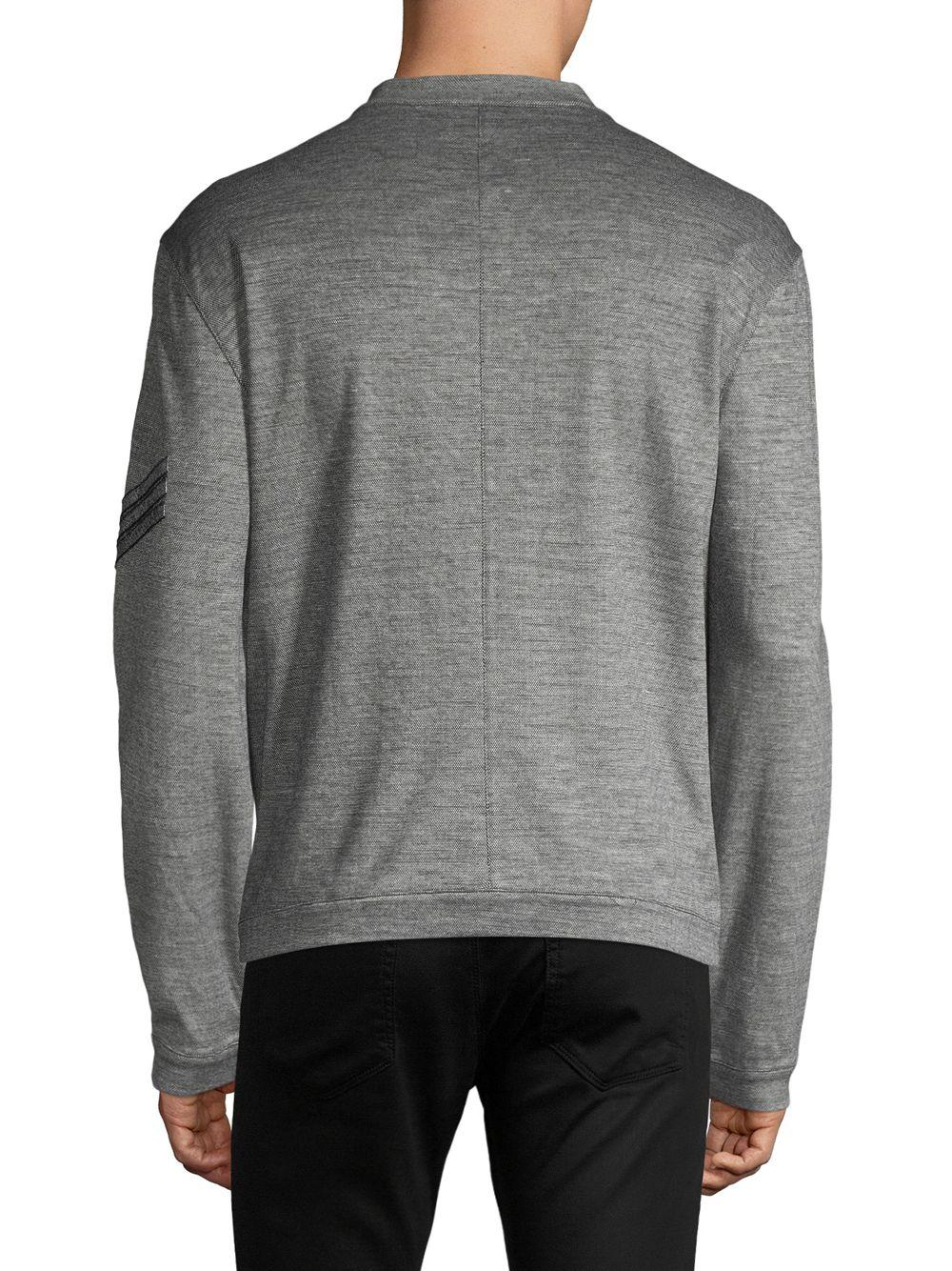 628e8b1574f5a John Varvatos Tonal Knit Bomber Jacket in Gray for Men - Lyst
