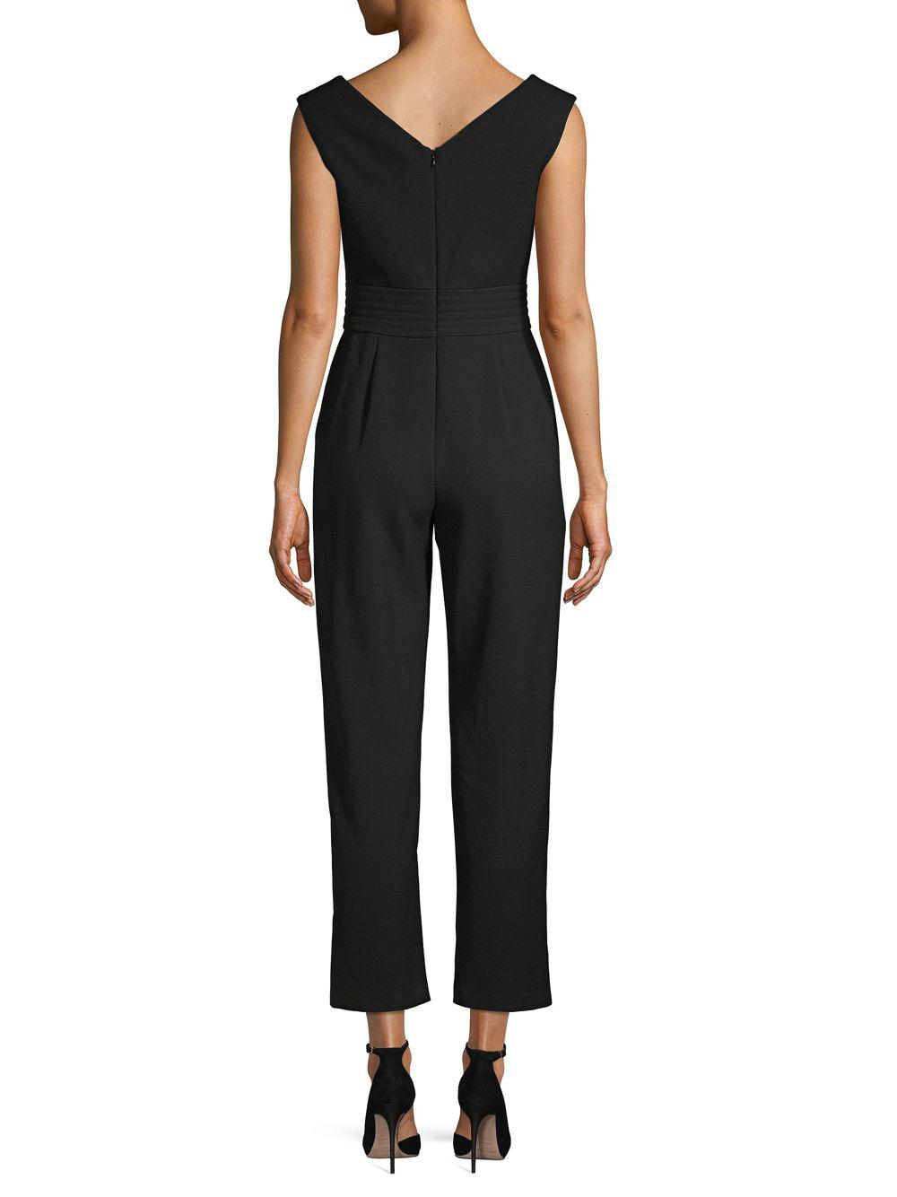 ed9d5c5893 Lyst - Maje V-neck Sleeveless Jumpsuit in Black