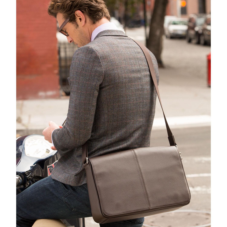 Lyst Samsonite Mens Leather Classic Messenger In Brown For Men