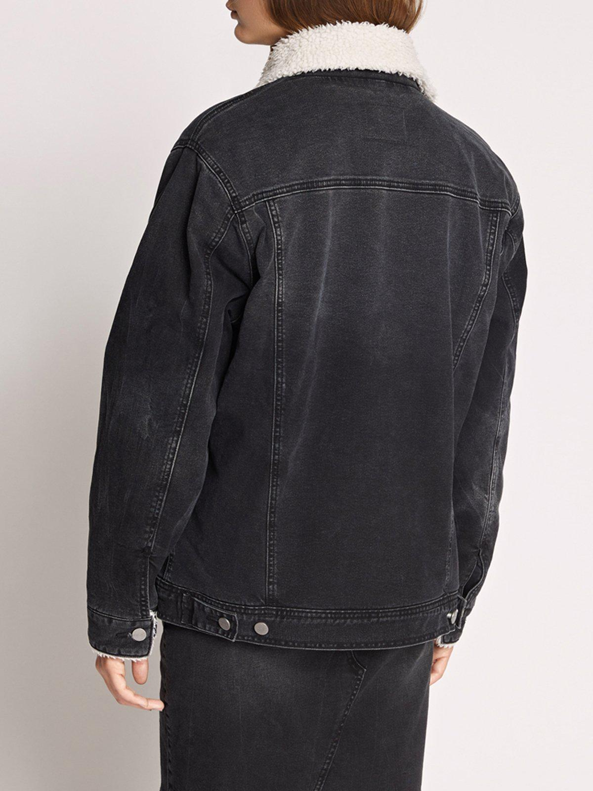 Sanctuary Clothing - Black Statement Sherpa Denim Jacket - Lyst. View  fullscreen 2e71c8650