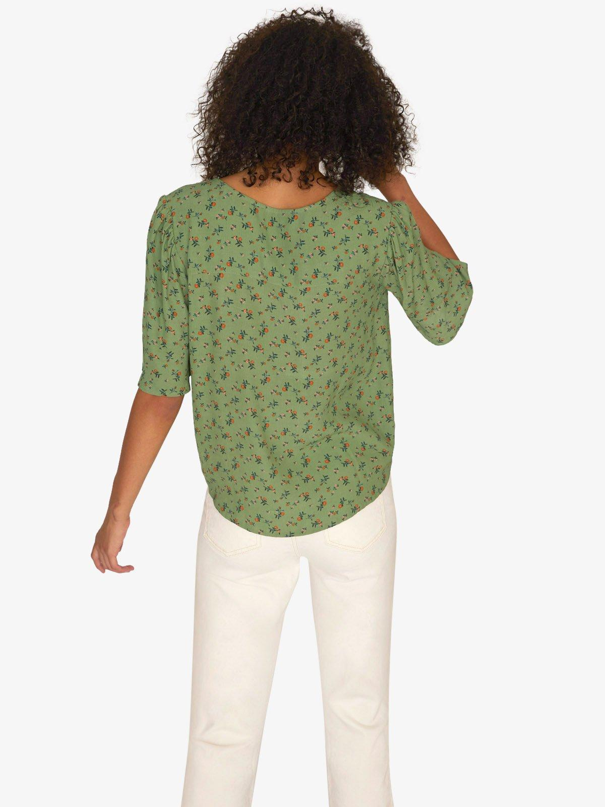 fba4e245aa383b Sanctuary Clothing Garden Party Wrap Top Go Green in Green - Lyst