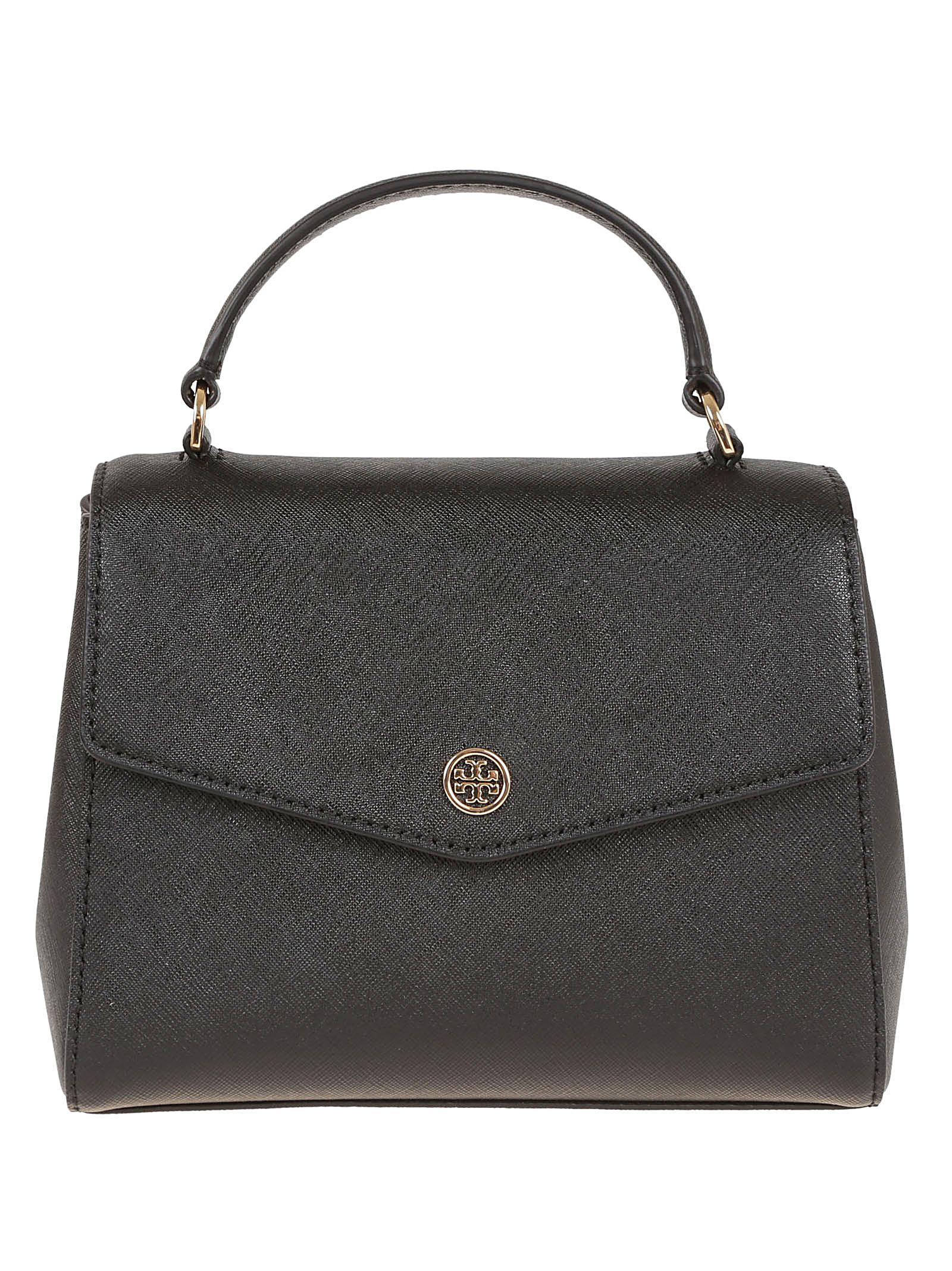 8570483a0771 Tory Burch Robinson Small Top-handle Satchel in Black - Lyst