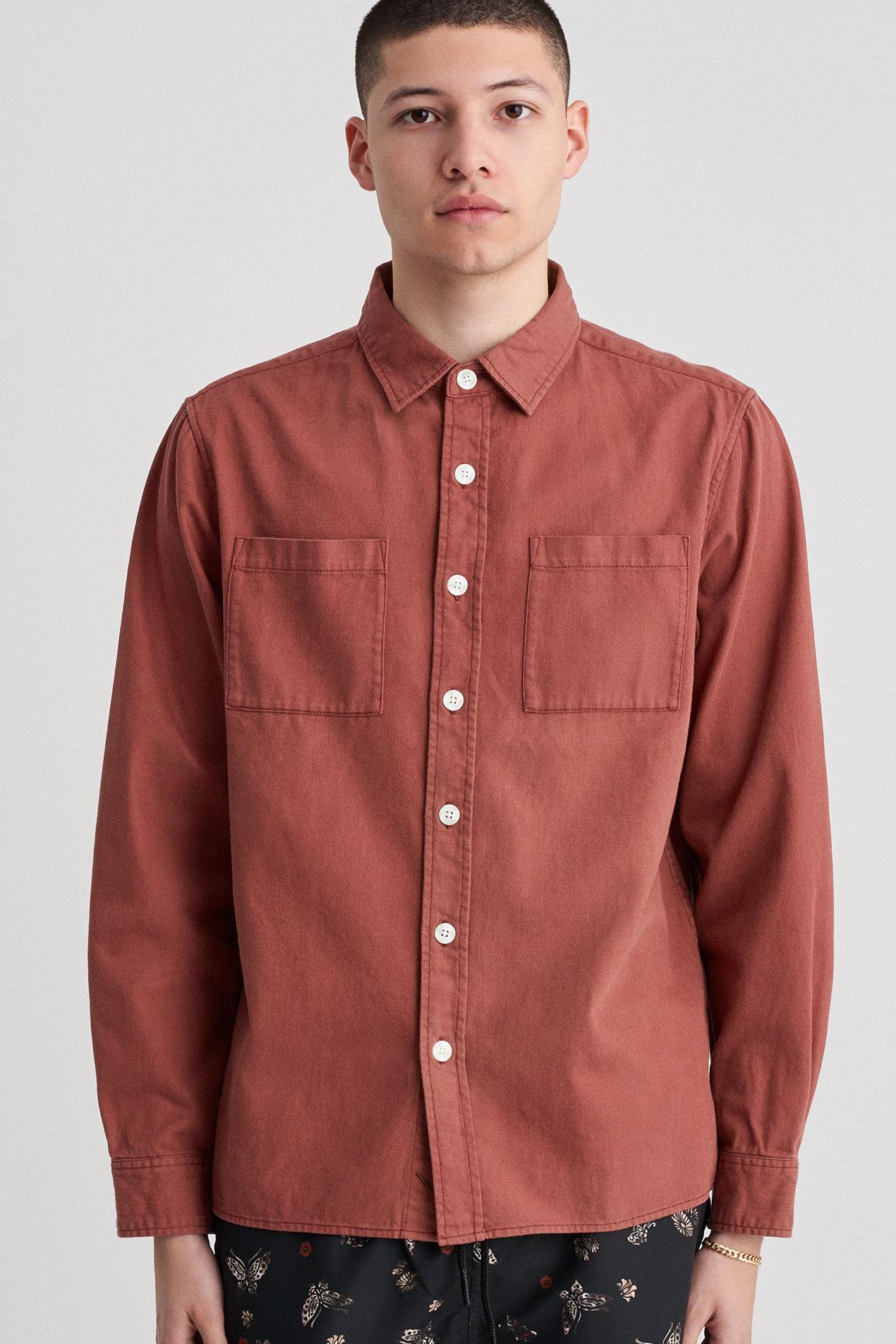 64f006e6563 Lyst - Saturdays NYC Nolan Wash Denim Shirt