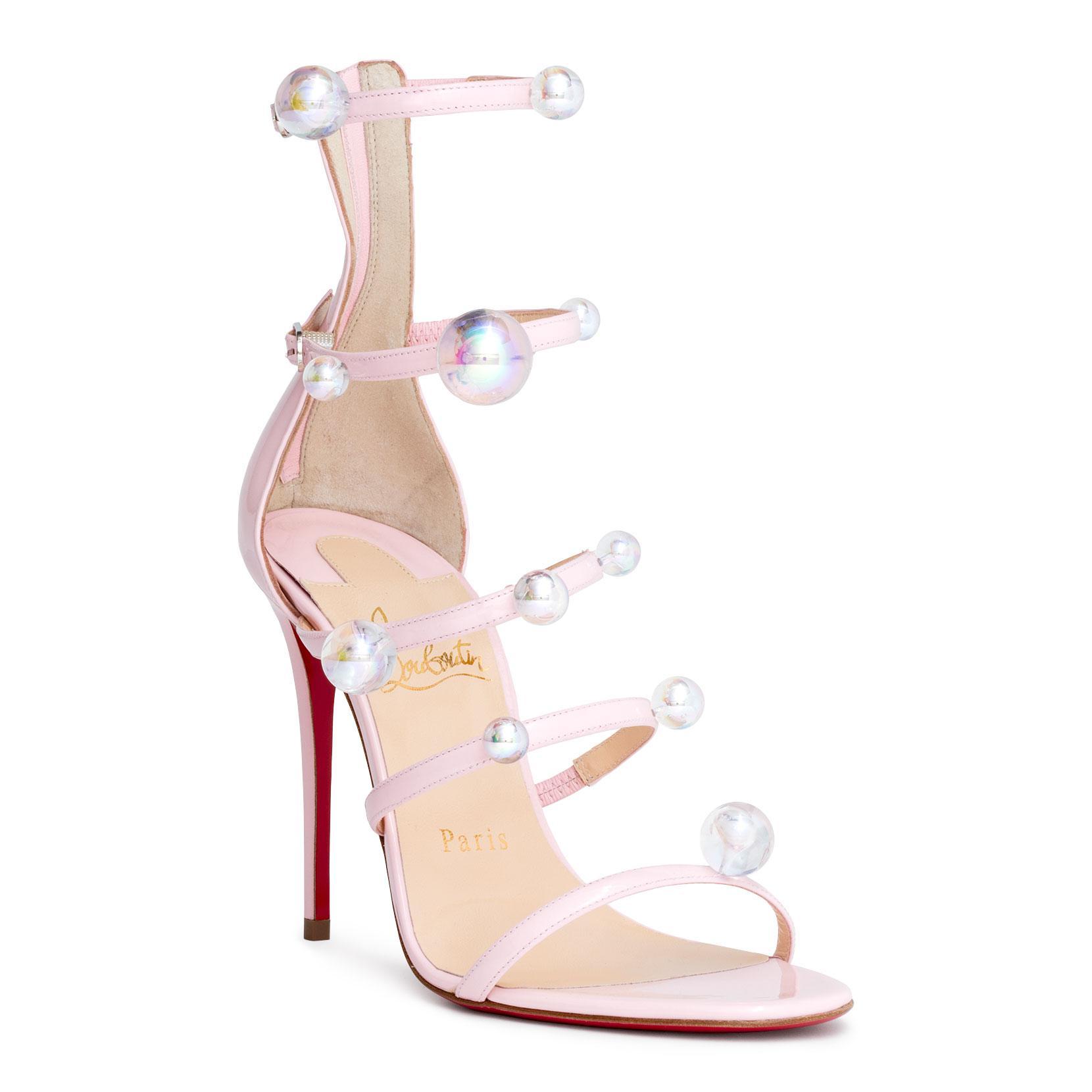 40191d8f109b usa louboutin pink sandals c5f99 b6550