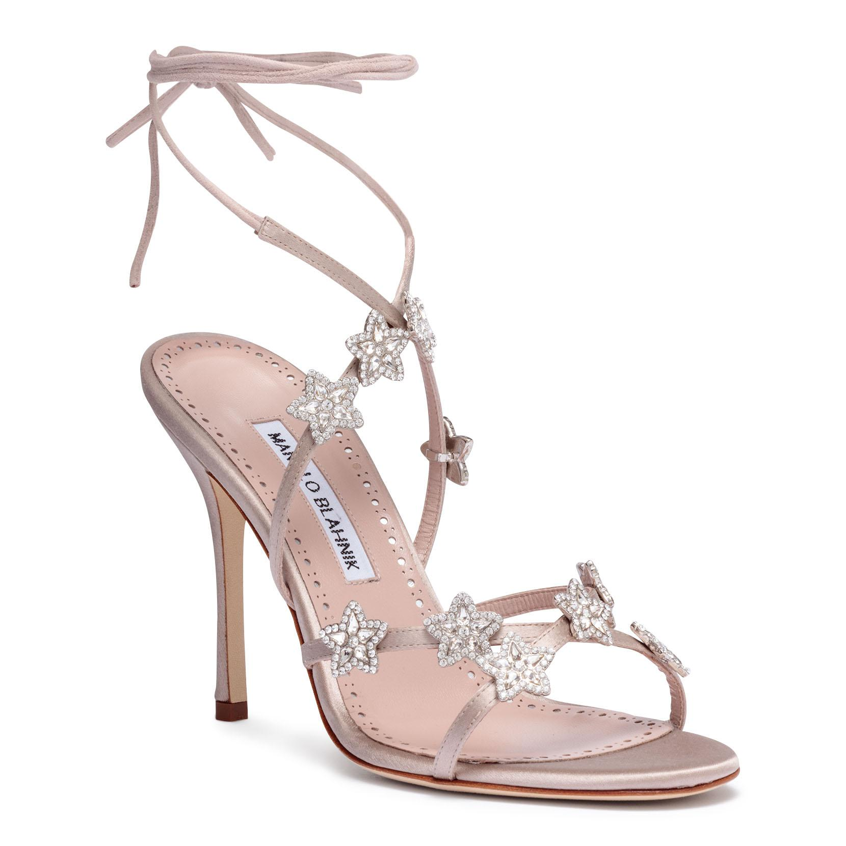 Discount Cost Osaka 105 champagne satin sandals Manolo Blahnik Buy Cheap Amazon Reliable Cheap Price Ost Release Dates Buy Cheap 100% Guaranteed eG5IO