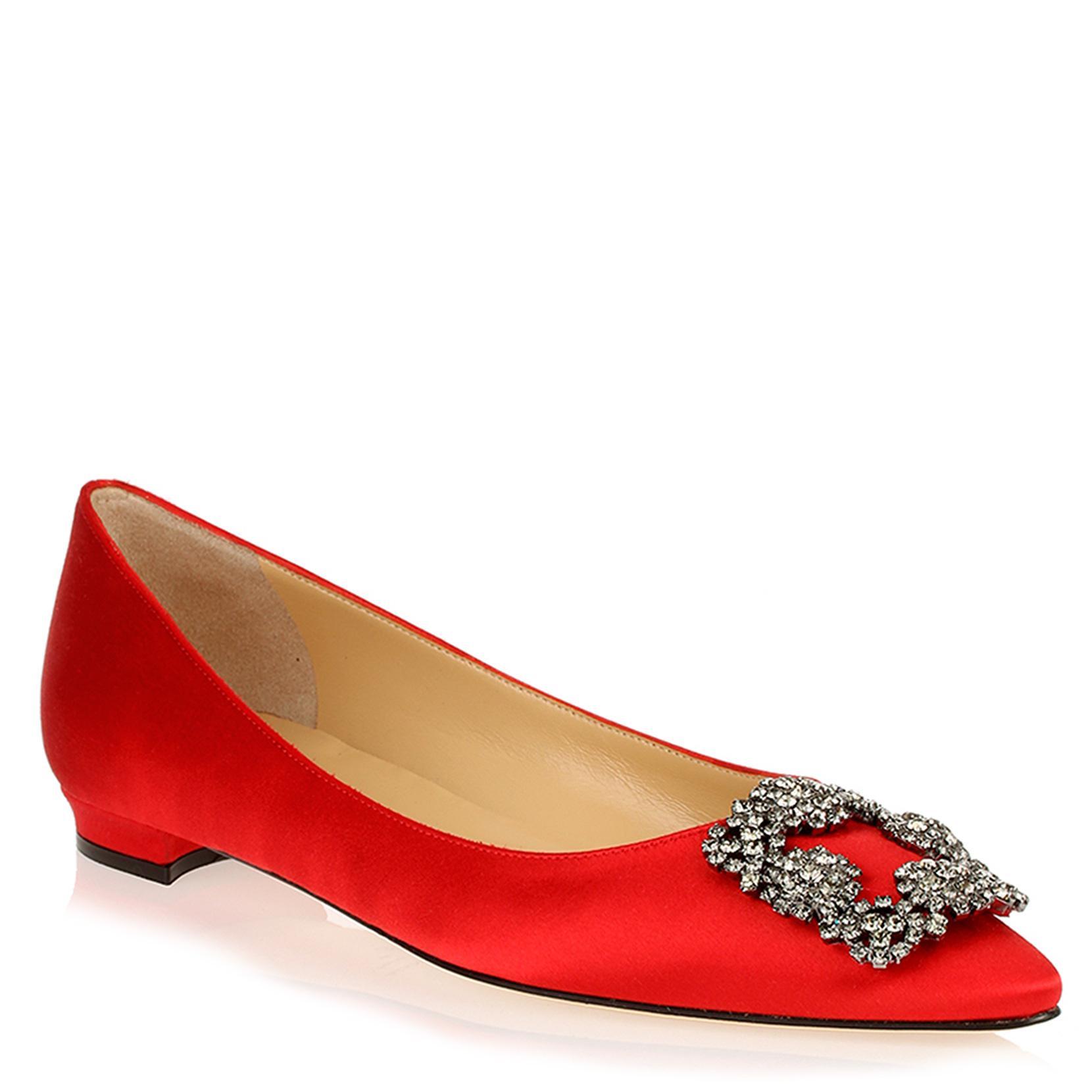 Hangisi Chaussures De Ballerine - Rouge Blahnik Manolo 7v6xLWWvDS