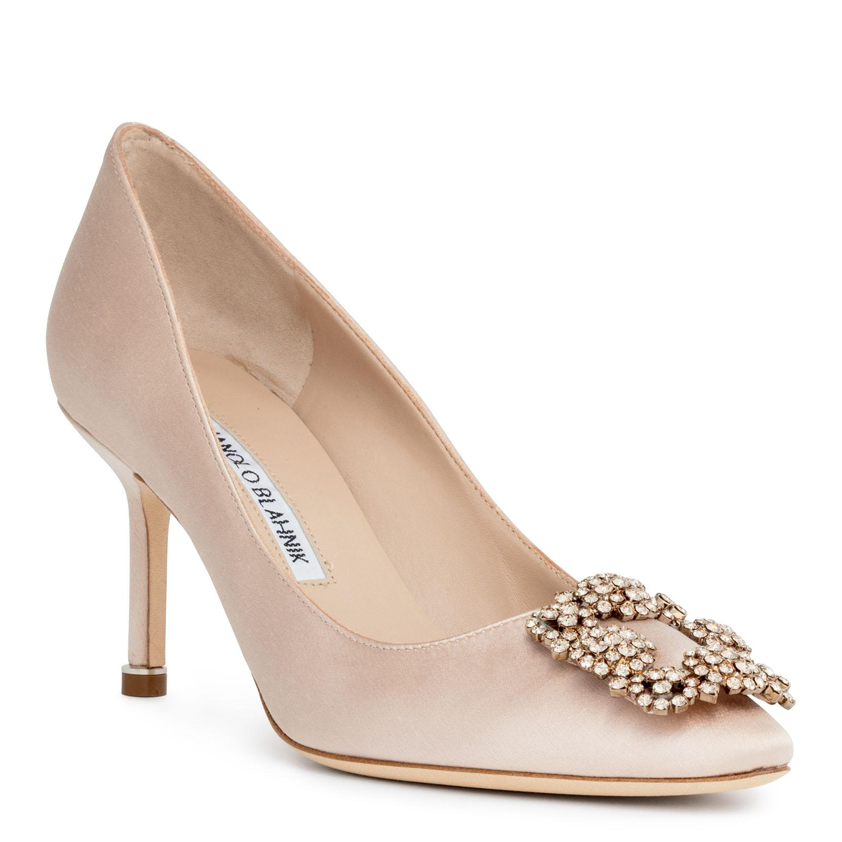 Hangisi 70 Bellini nude satin pumps Manolo Blahnik Buy Cheap Limited Edition bLl5kfk