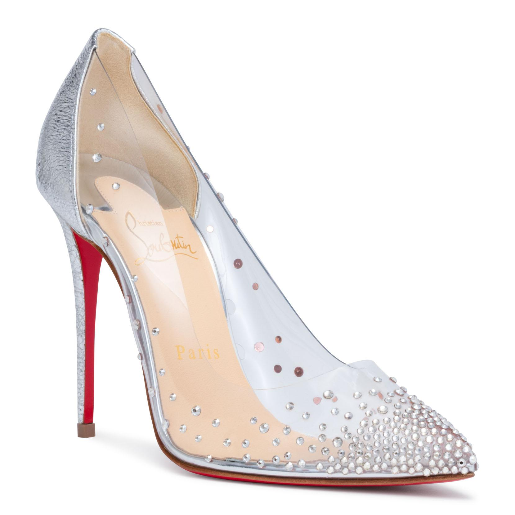 c14a553f73c2 Lyst - Christian Louboutin Degrastrass 100 Silver Patent Pumps in ...