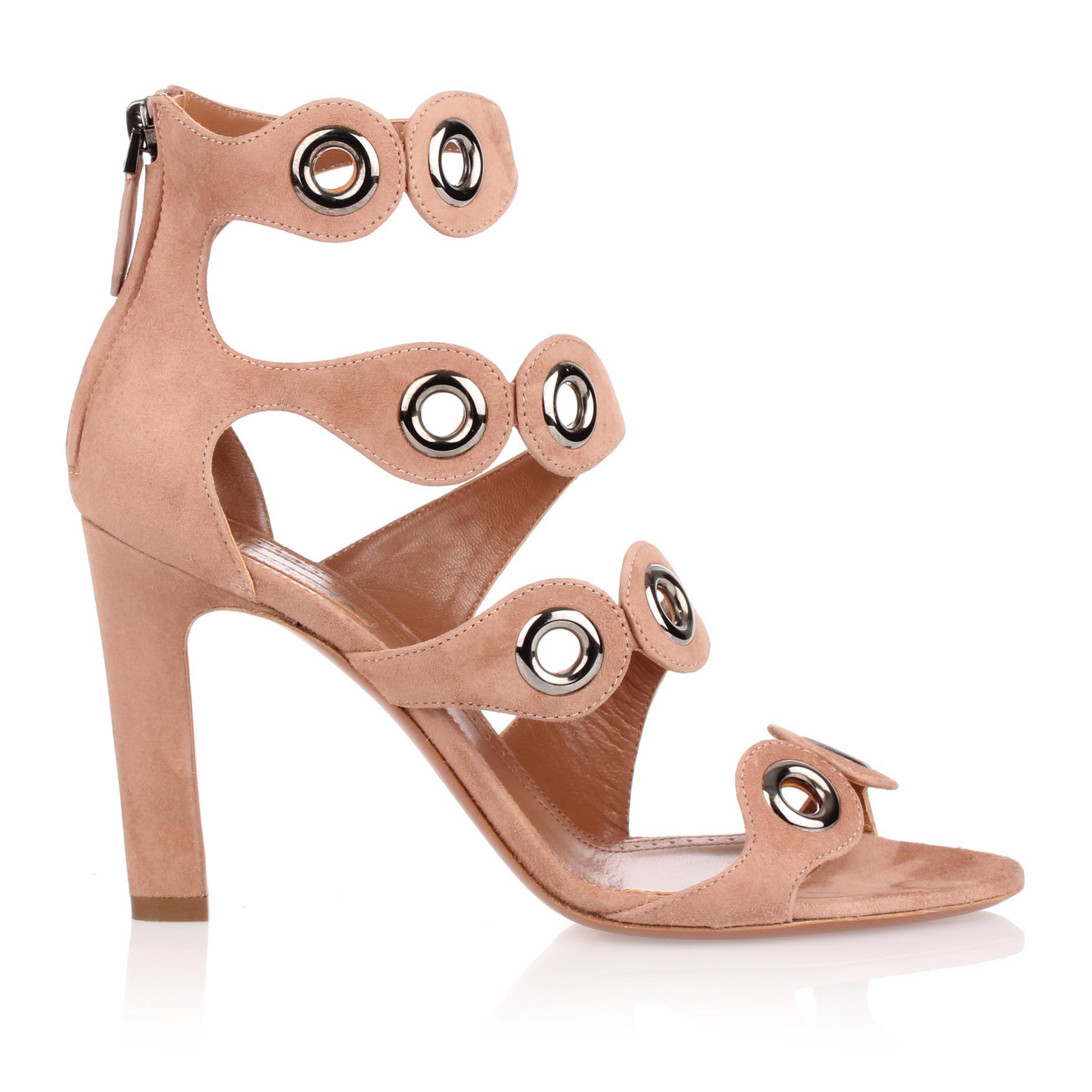Tan suede eyelet sandal Alaia lzjrWPiRgf