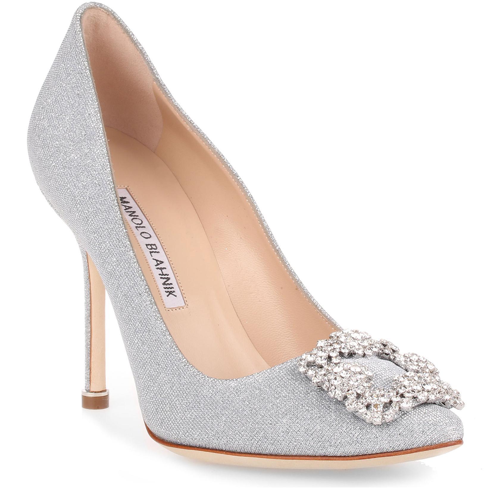 Hangisi 105 Notturno Glitter Silver Pumps Manolo Blahnik HsbEl8C