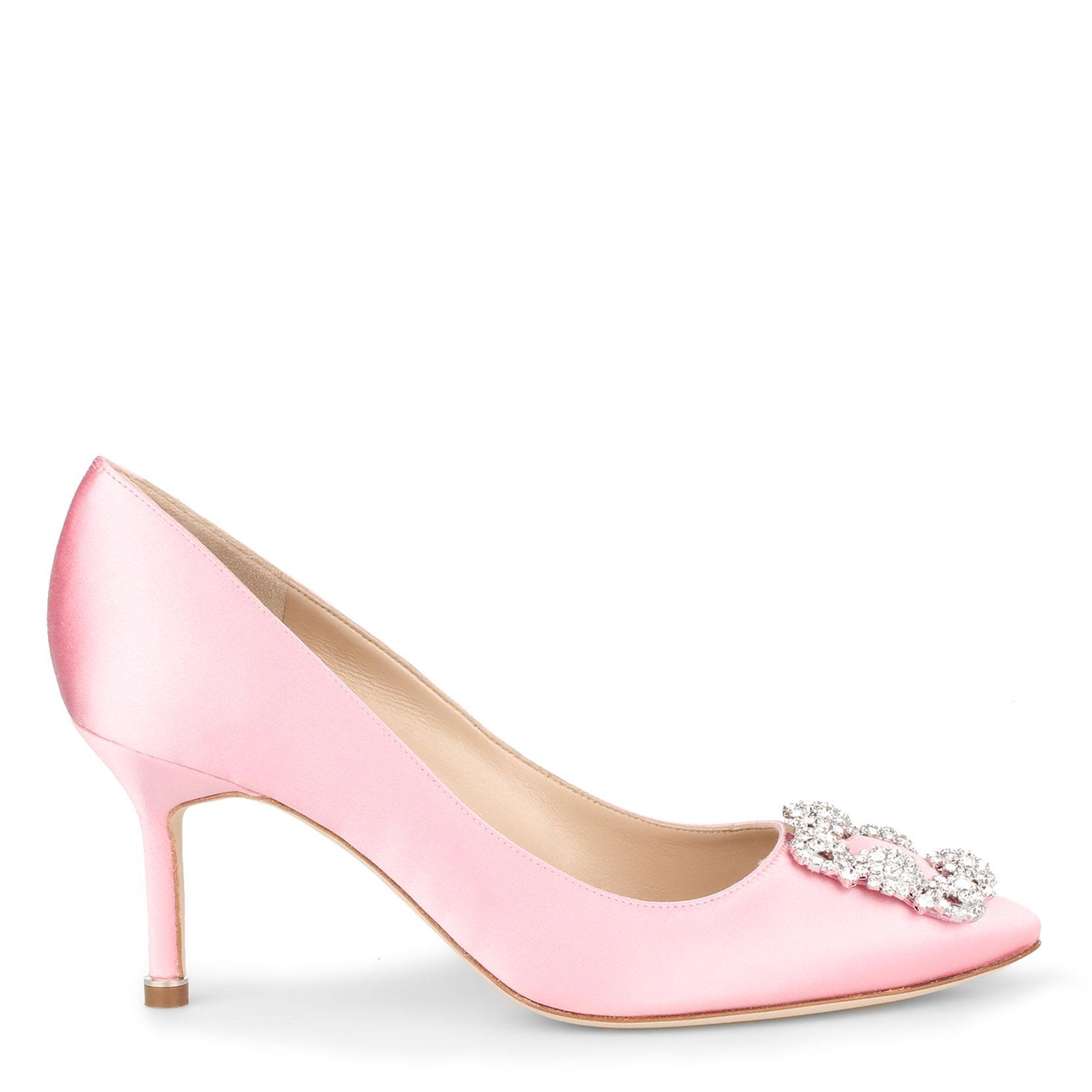 Hangisi 70 pink satin pump Manolo Blahnik zutiga