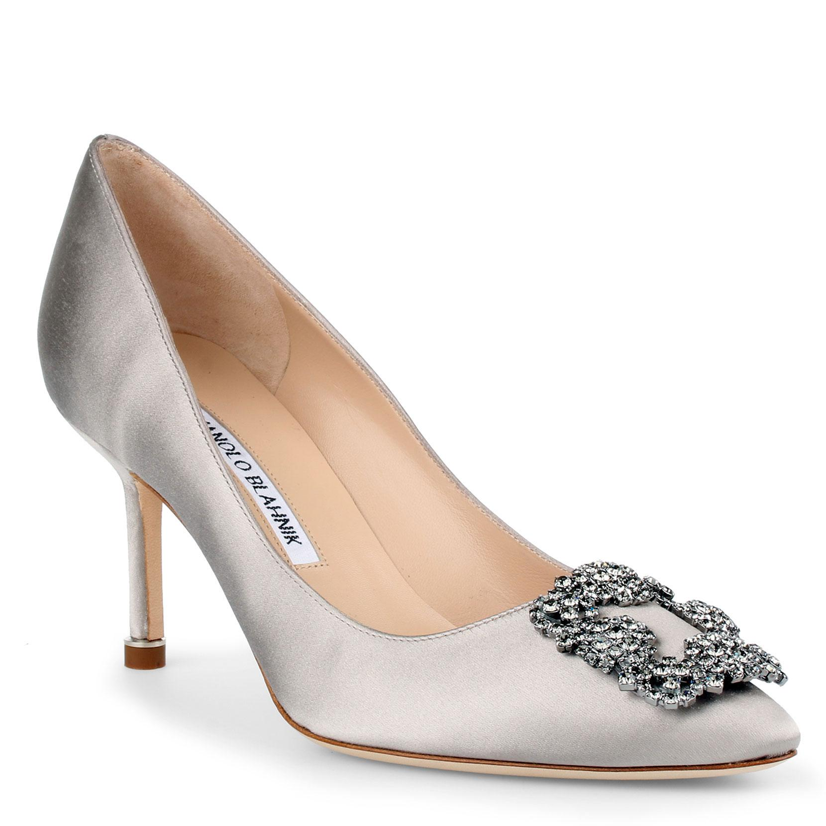 Hangisi 105 Satin Silver Grey Pumps Manolo Blahnik Manchester Great Sale Online Free Shipping Sale Cheap Newest Classic Sale Online pxrQYBksS