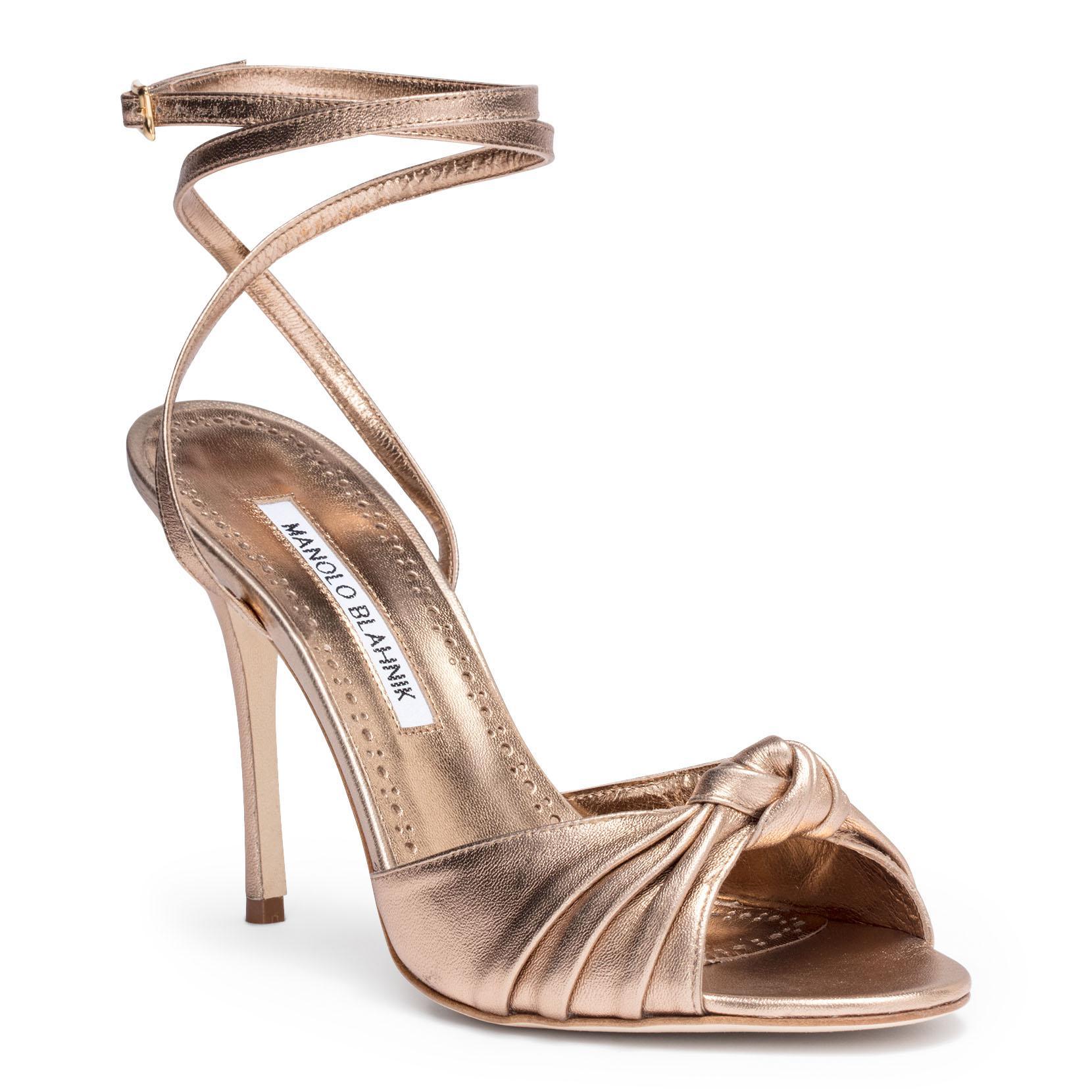 Mumuyesli 70 nappa light gold sandal Manolo Blahnik 2T6fV3lHb