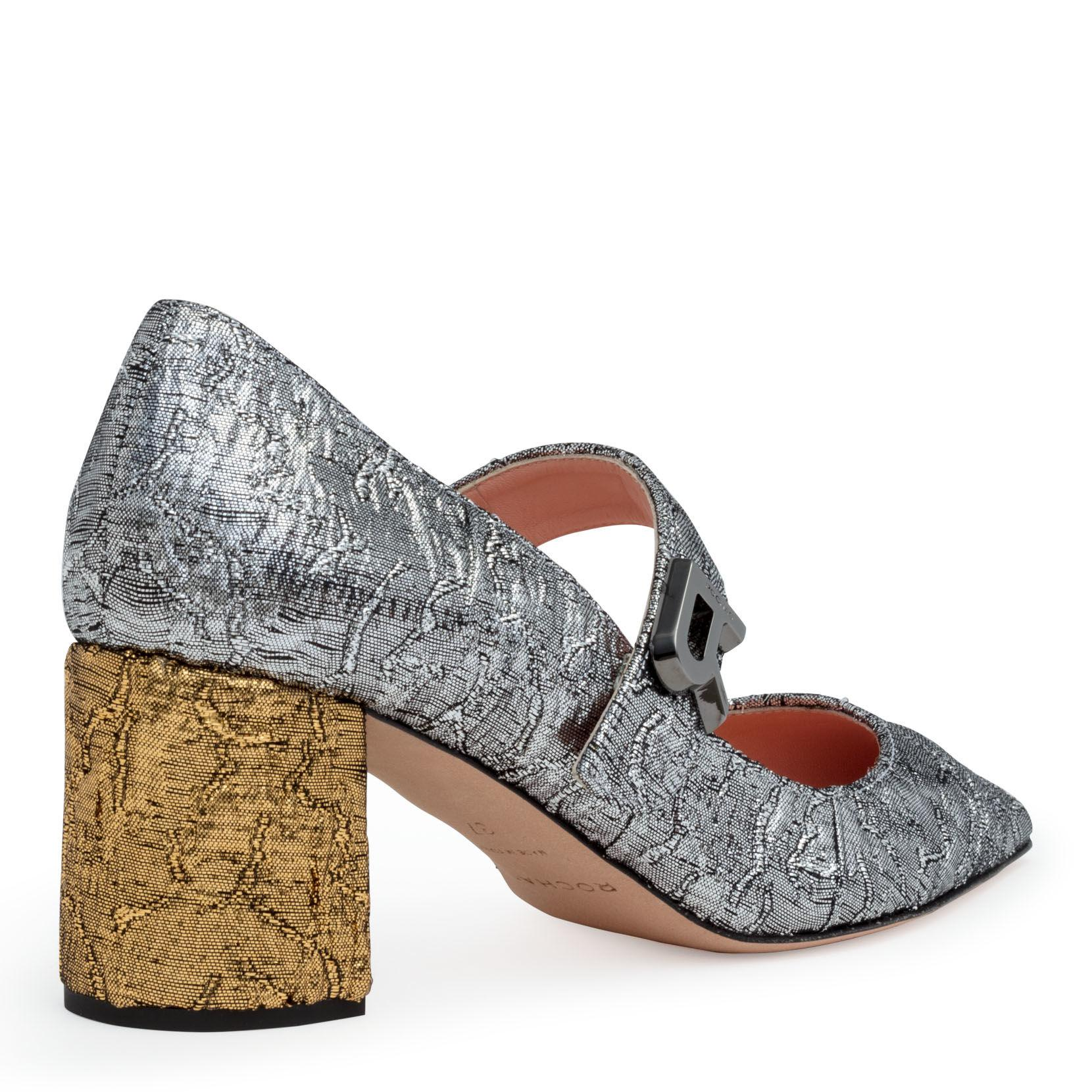 2b6390d090f Rochas - Multicolor Silver Brocade 60 Pointed Pumps - Lyst. View fullscreen