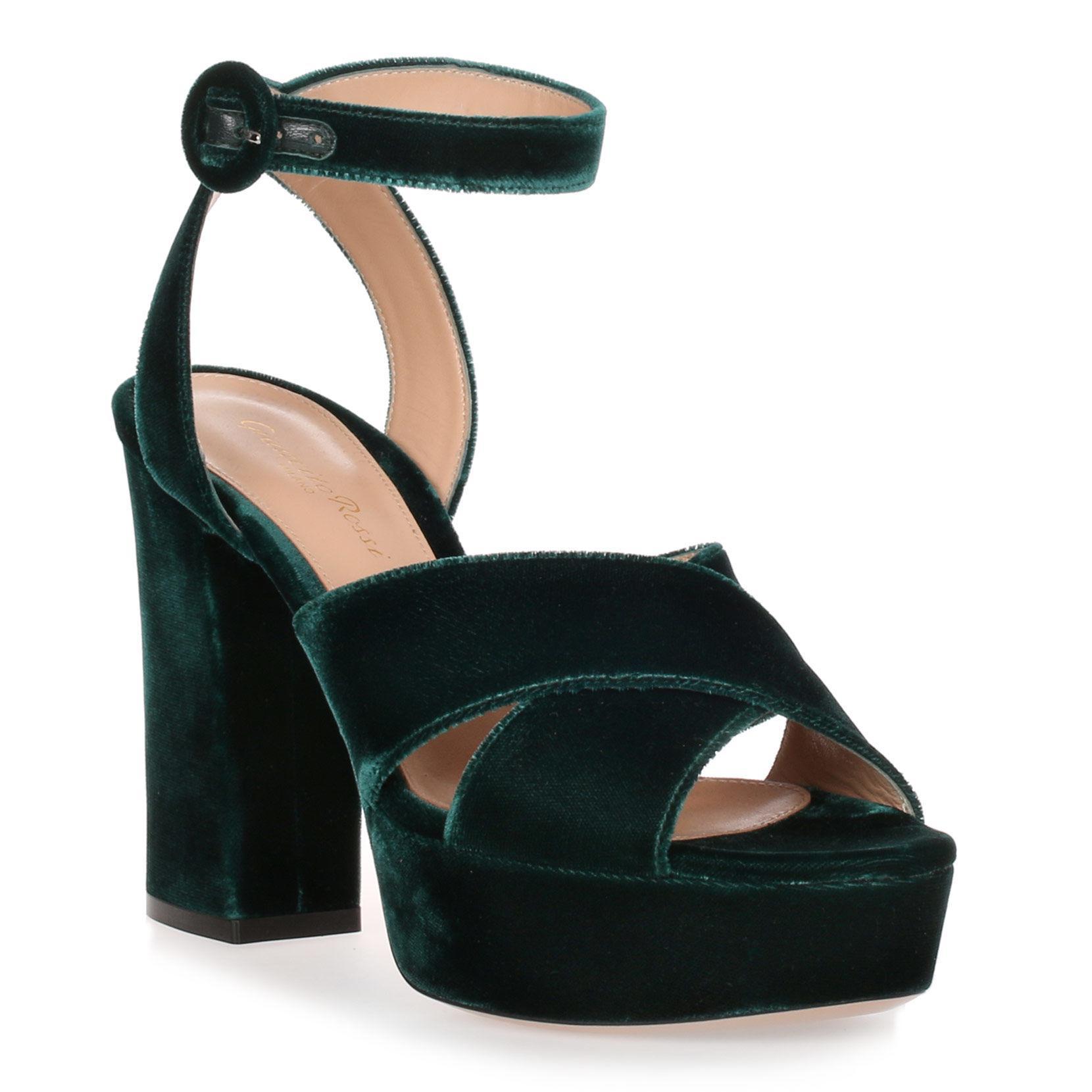 40718bcdd7d04 Gianvito Rossi. Women s Roxy Hunter Green Velvet Sandal. From  775.00   387.50