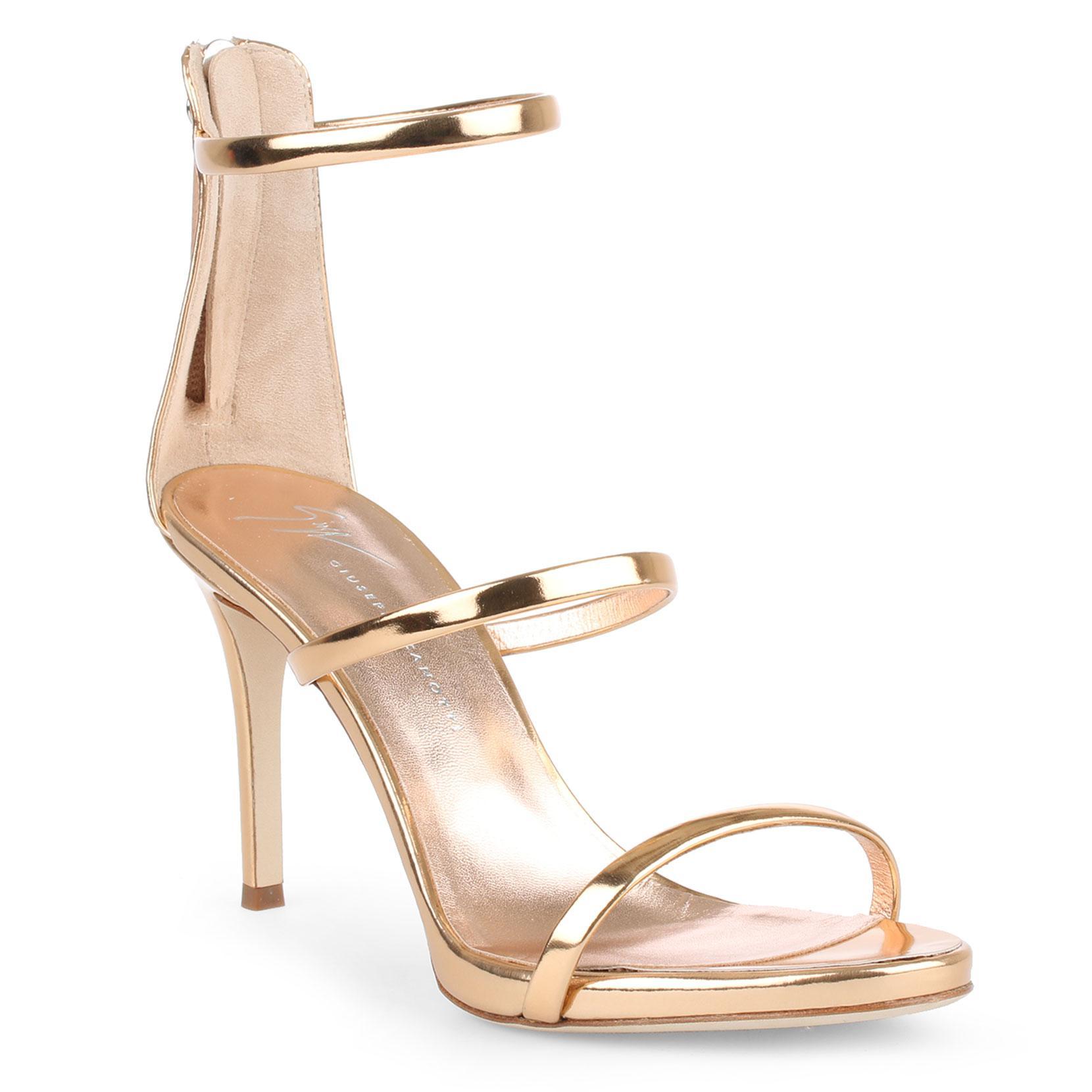 1cd9aaa33 Lyst - Giuseppe Zanotti Harmony 90 Rose Gold Sandals in Metallic