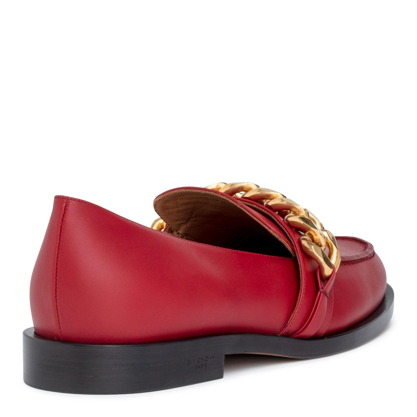 Red leather chain loafer Givenchy 5XWif0Cs