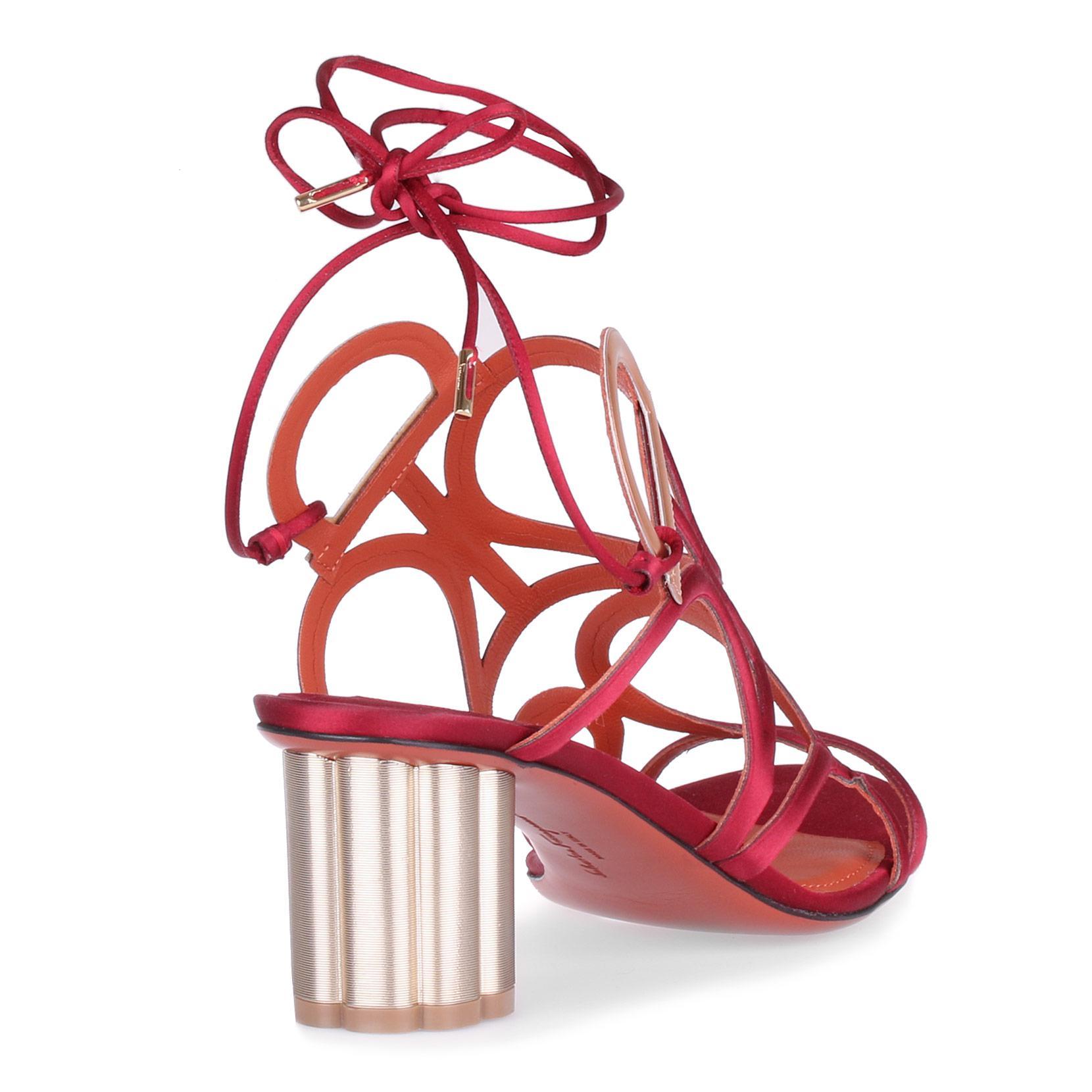 Vinci 55 crepe satin sunstone sandal Salvatore Ferragamo 71FKkZaICo