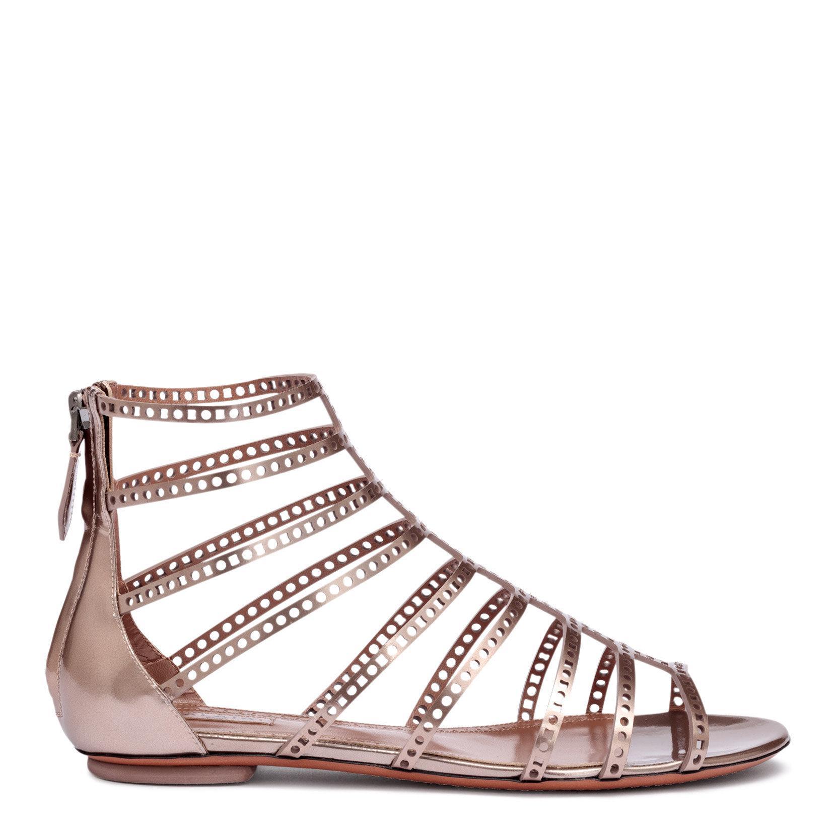 978662dc85fd3 Alaïa - Multicolor Metallic Laser-cut Leather Sandals - Lyst. View  fullscreen