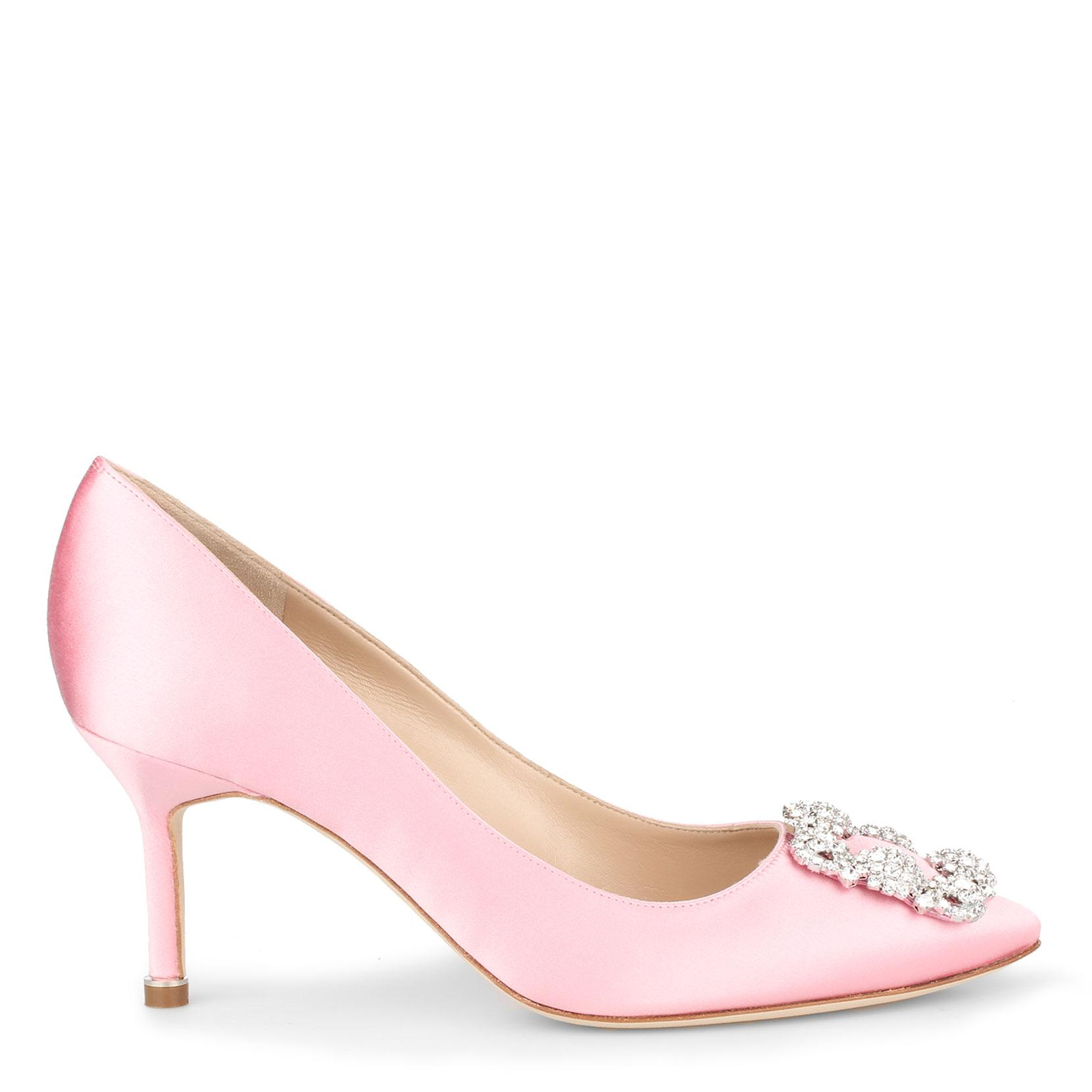 Hangisi 70 light blush satin pumps Manolo Blahnik PL4rP6CCD