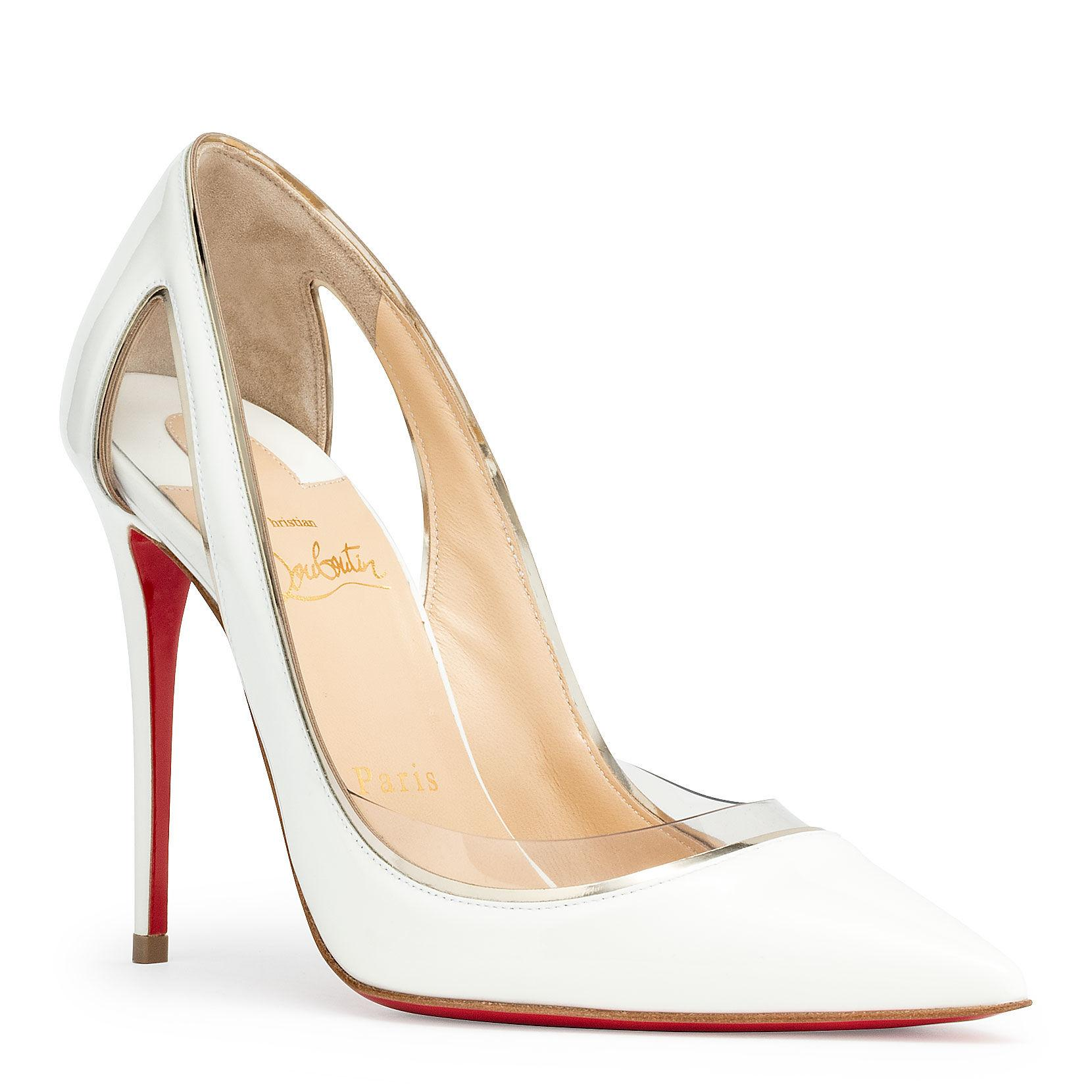 4679ba3ba0c Christian Louboutin. Women s White Cosmo 554 Patent Leather Court Shoes