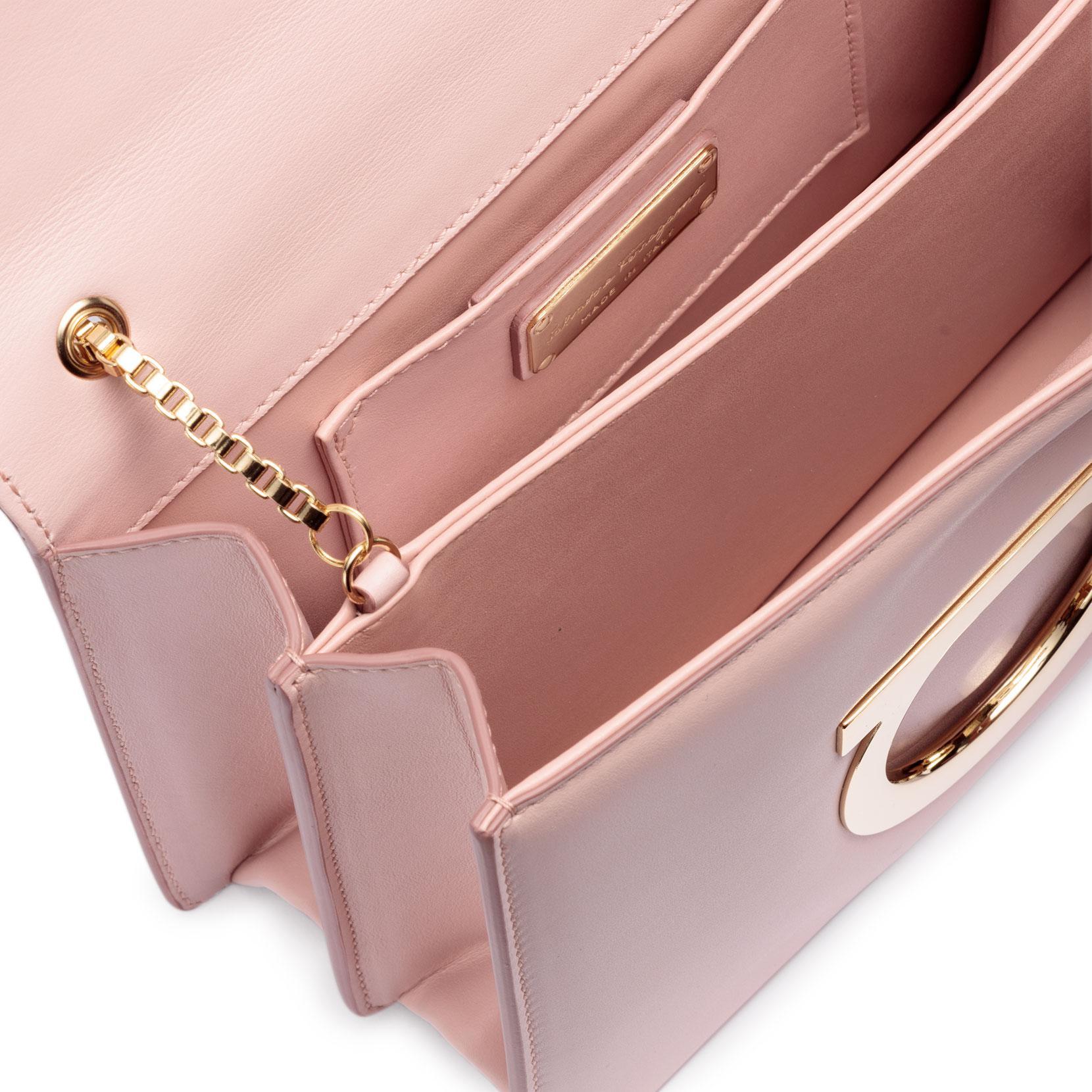 Thalia light pink leather Gancini shoulder bag Salvatore Ferragamo Discount 100% Original Discount Genuine On Hot Sale 83RzIC