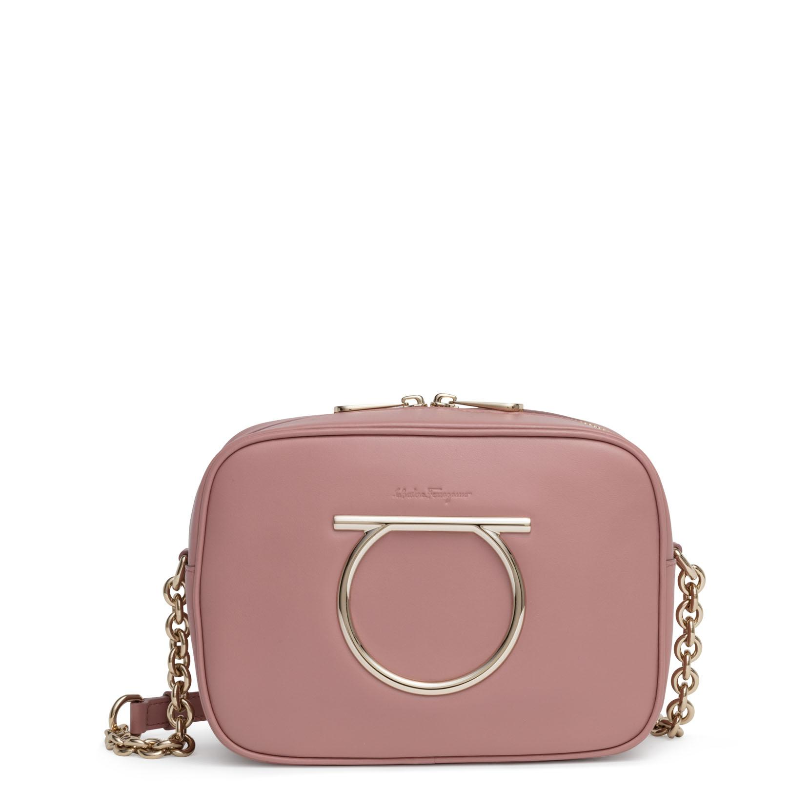 Womens Gancini Dusty Pink Camera Bag info for 37e19 730ca  Salvatore  Ferragamo ... ba5a0568cbb56