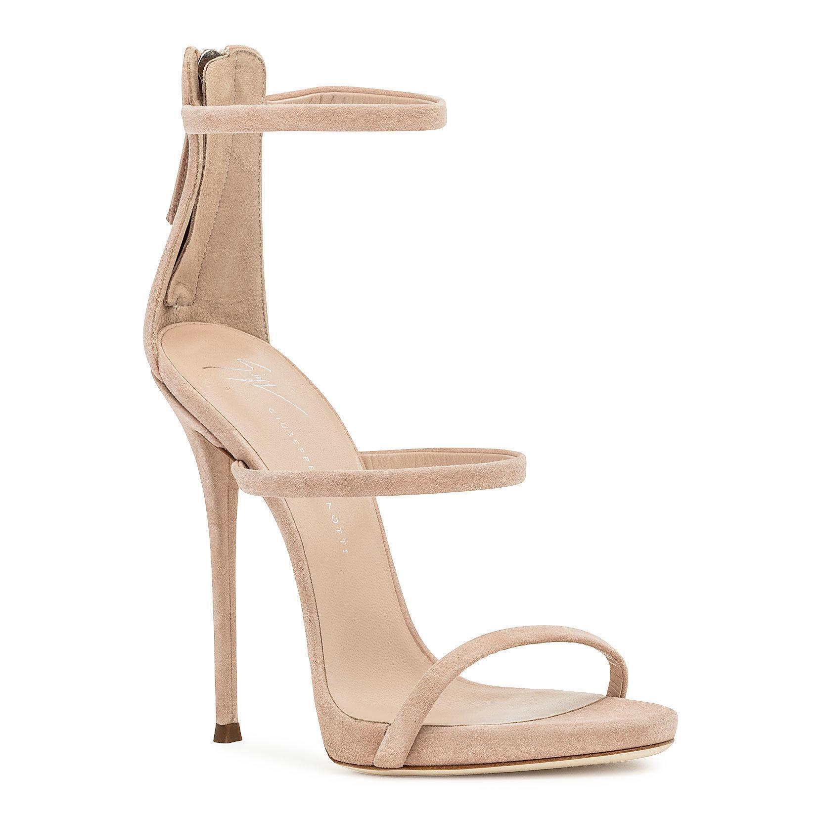 bd99b69a60b63 Giuseppe Zanotti. Women's Harmony Blush Suede Sandals