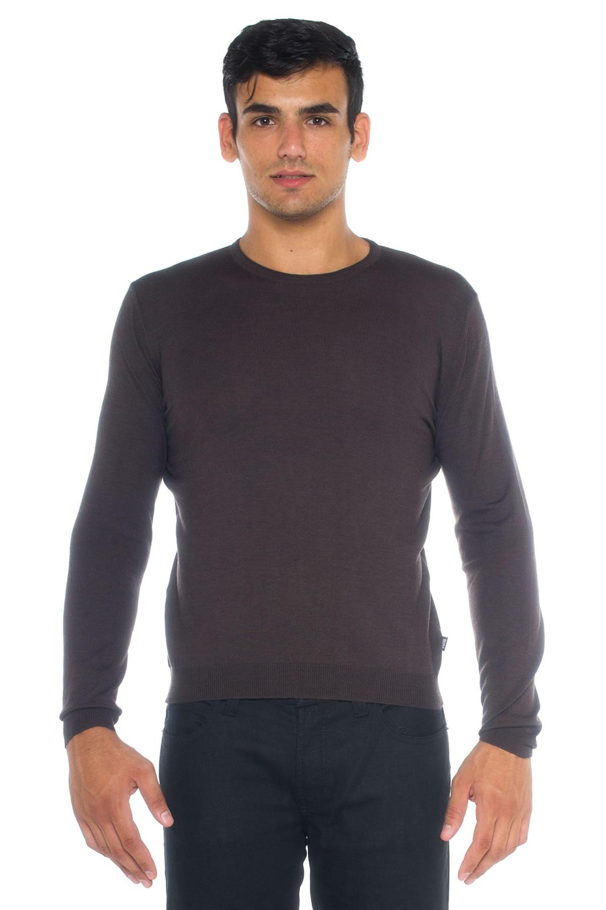 lyst boss by hugo boss round neck pullover in blue for men. Black Bedroom Furniture Sets. Home Design Ideas
