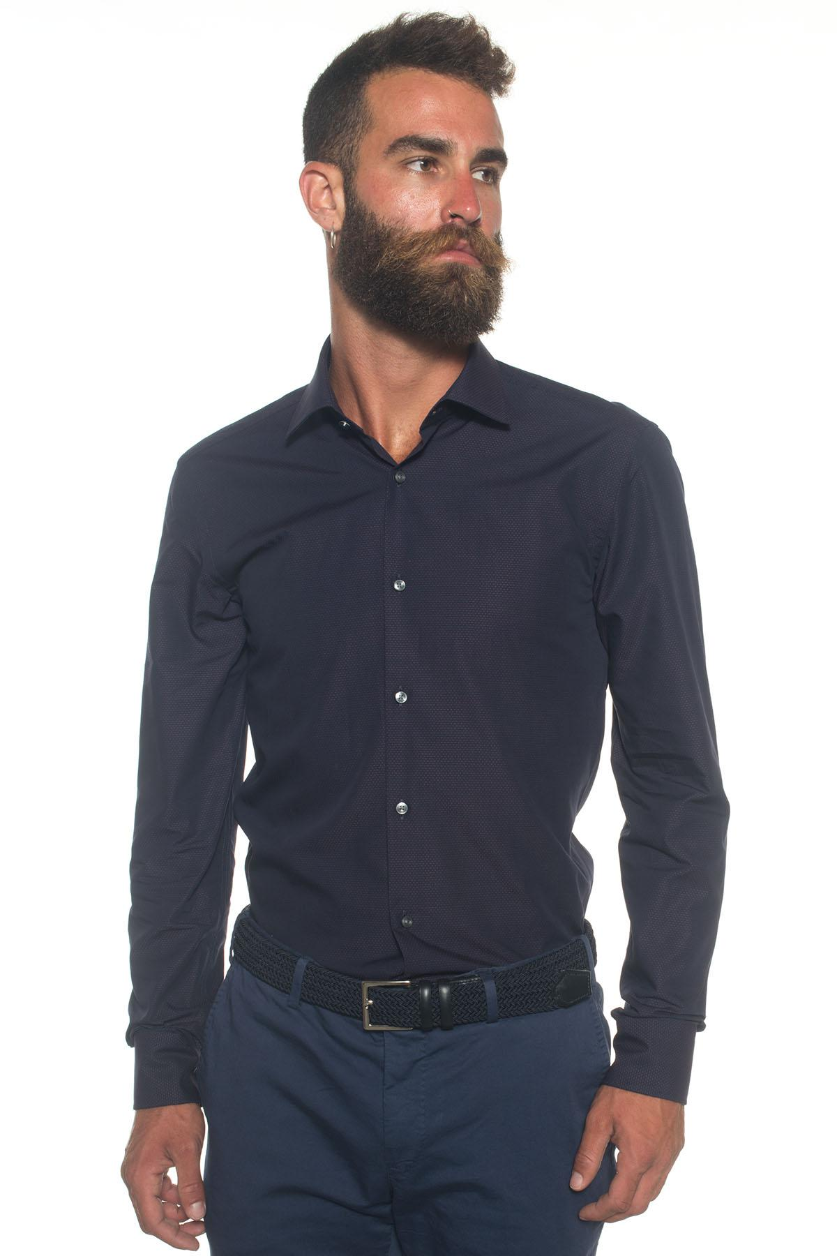 Lyst boss by hugo boss dress shirt in blue for men for Hugo boss dress shirts